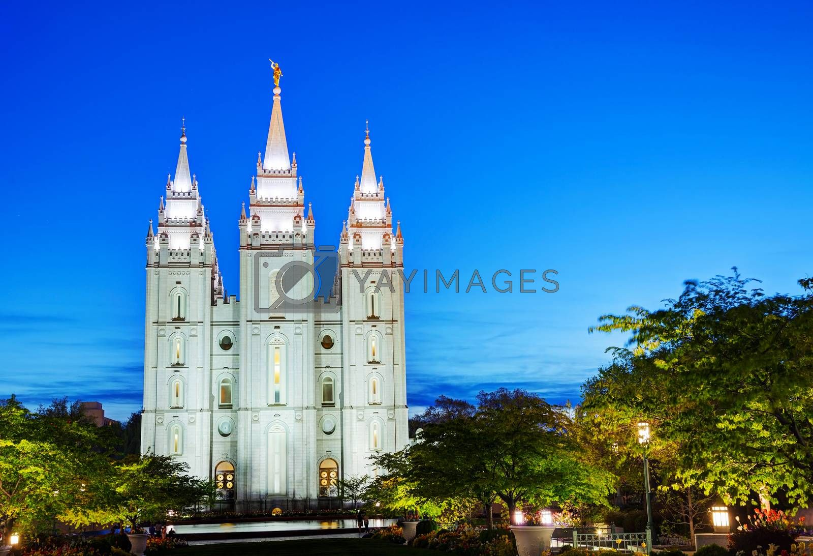 Royalty free image of Mormons' Temple in Salt Lake City, UT by AndreyKr