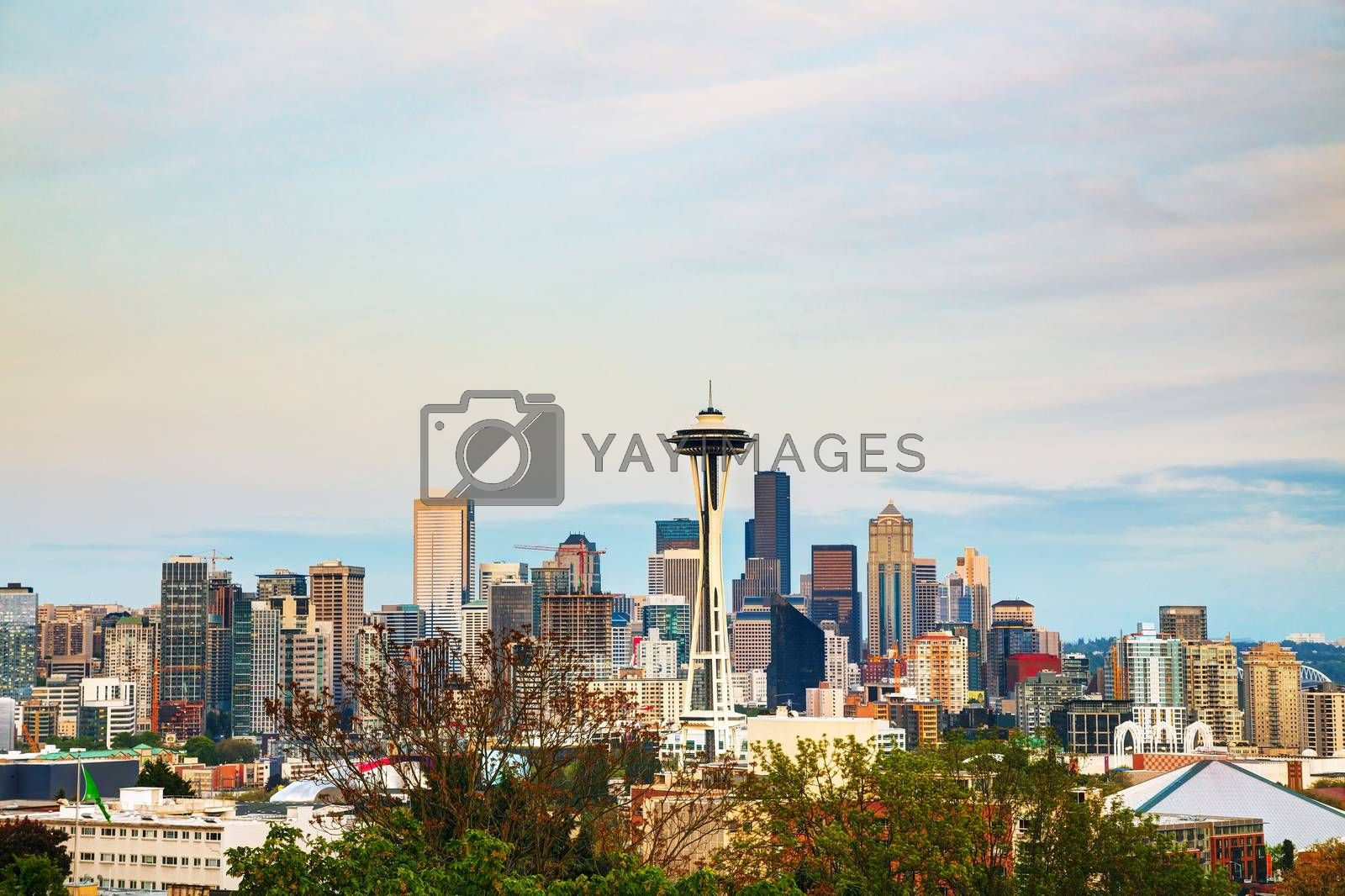 Royalty free image of Downtown Seattle as seen from the Kerry park by AndreyKr