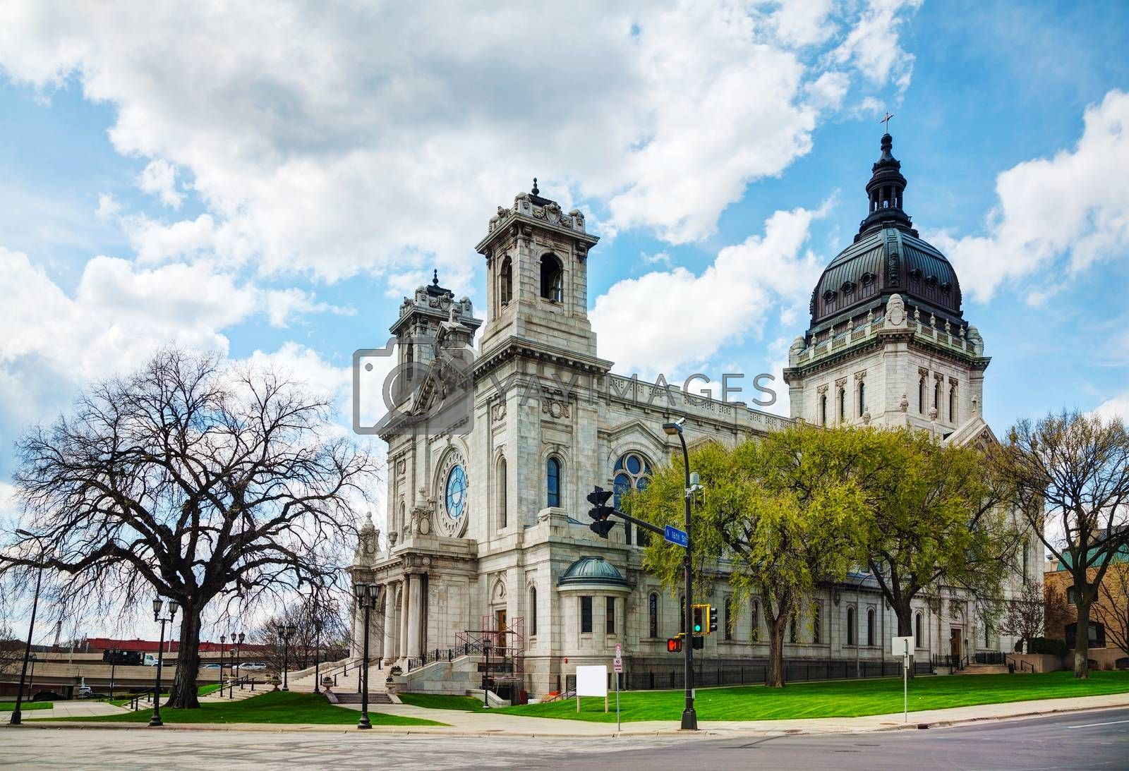 Royalty free image of Basilica of Saint Mary in Minneapolis, MN by AndreyKr