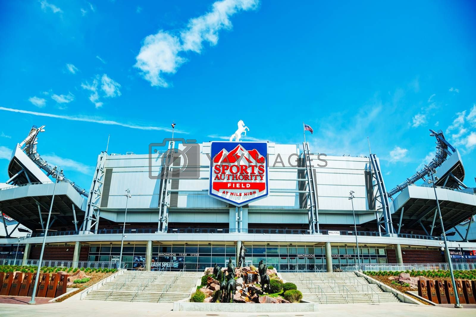 Royalty free image of Sports Authority Field at Mile High in Denver by AndreyKr