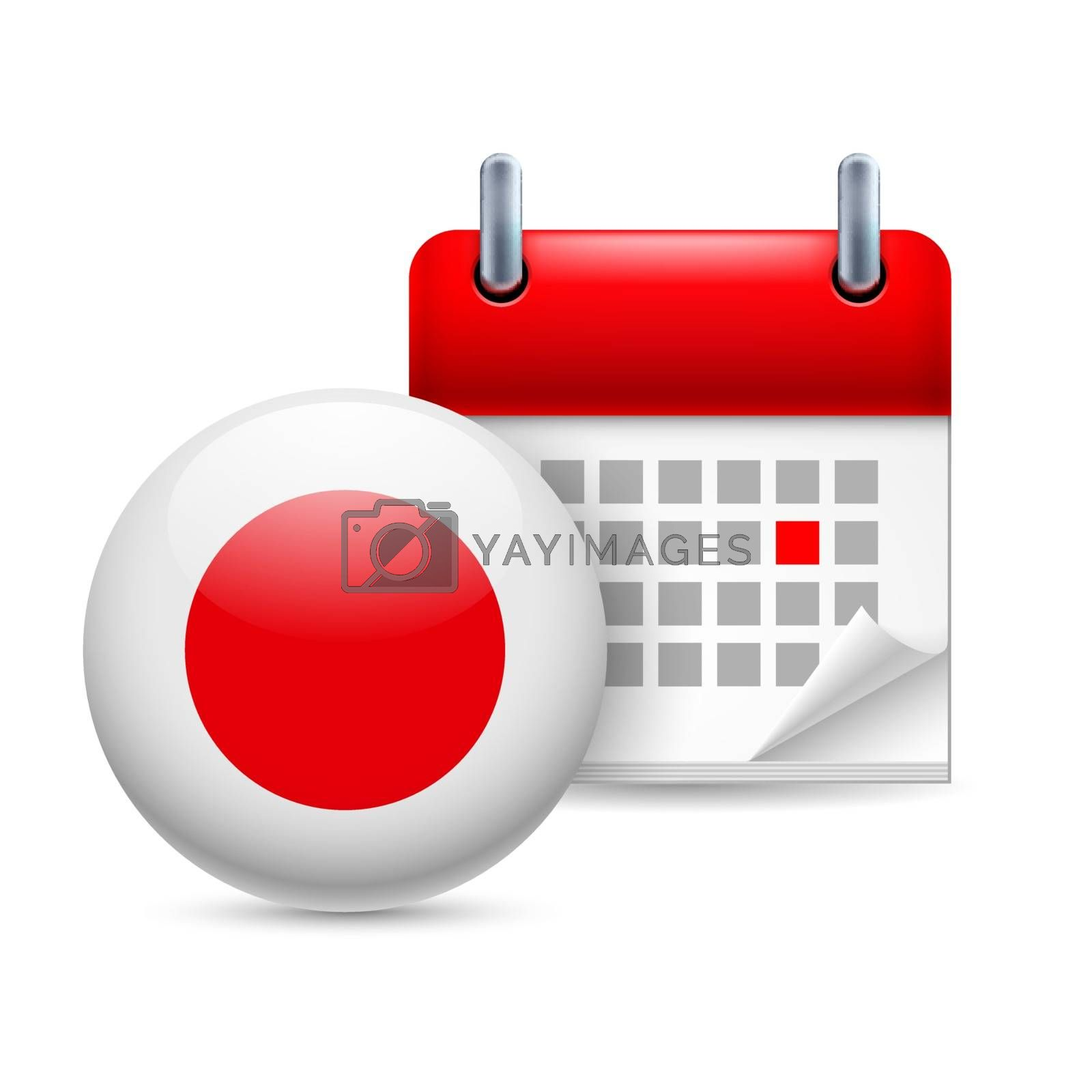 Royalty free image of Icon of National Day in Japan by dvarg