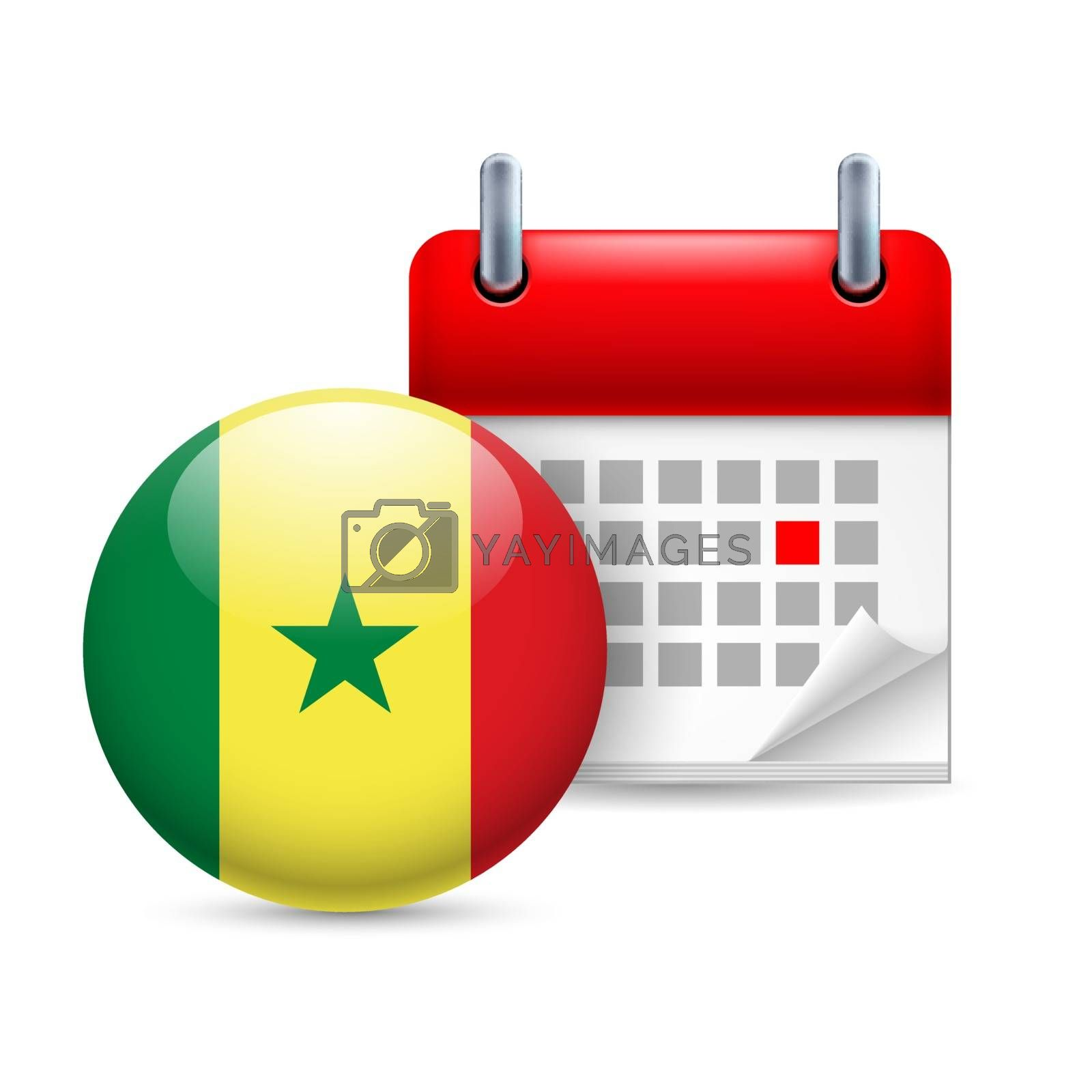 Royalty free image of Icon of National Day in Senegal by dvarg