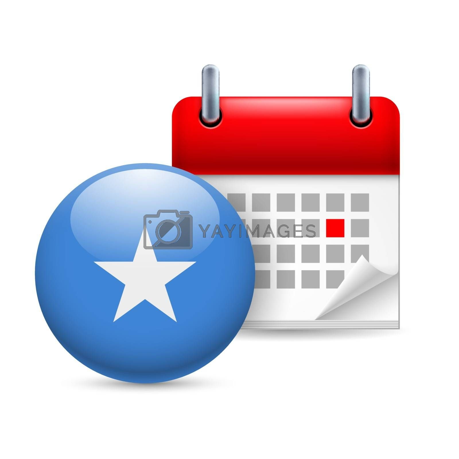 Royalty free image of Icon of National Day in Somalia by dvarg