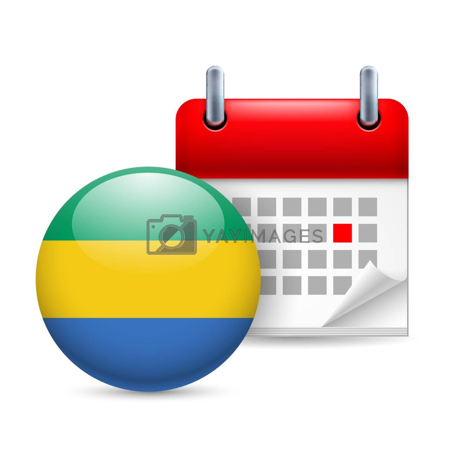 Royalty free image of Icon of National Day in  Gabon by dvarg