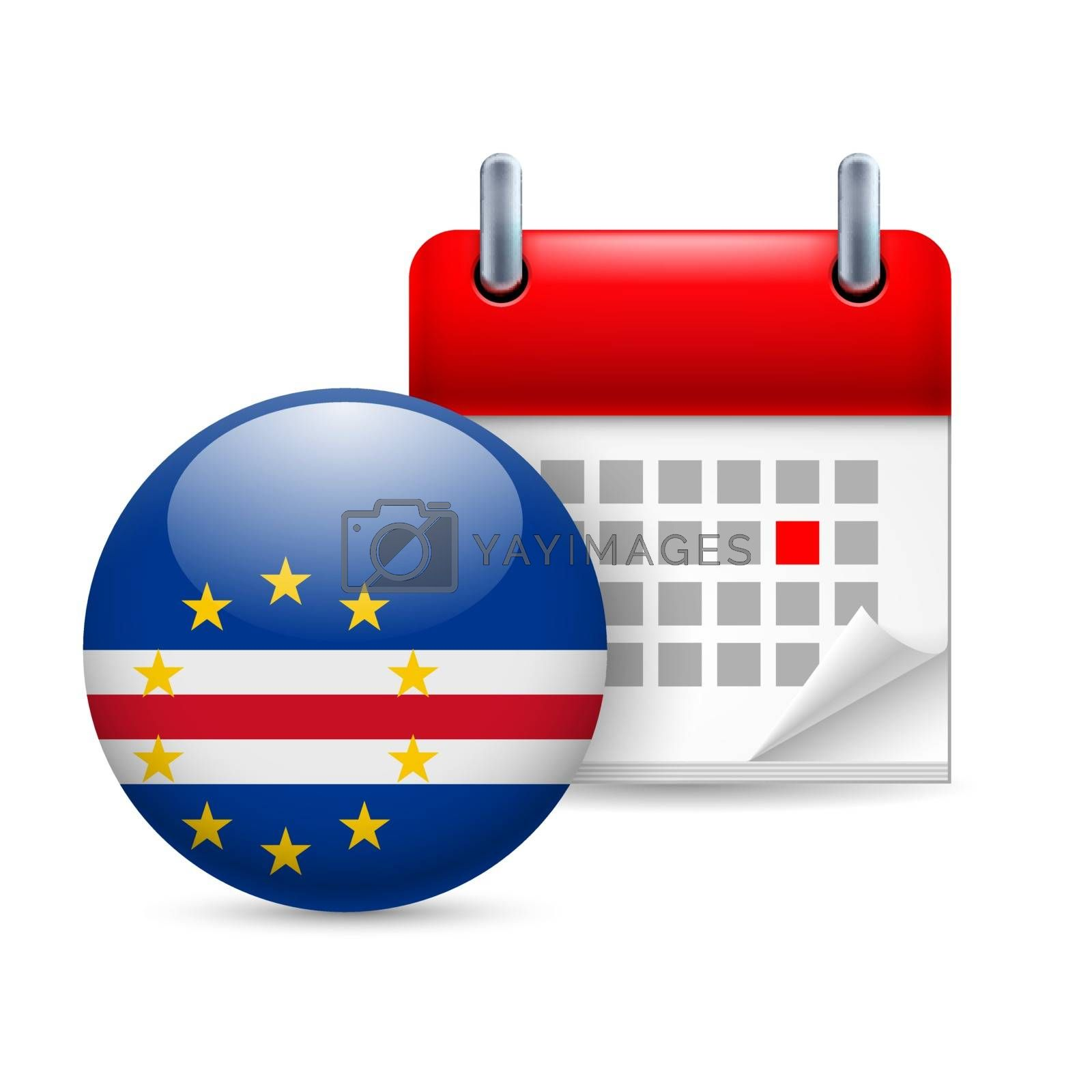 Royalty free image of Icon of National Day in Cape Verde by dvarg