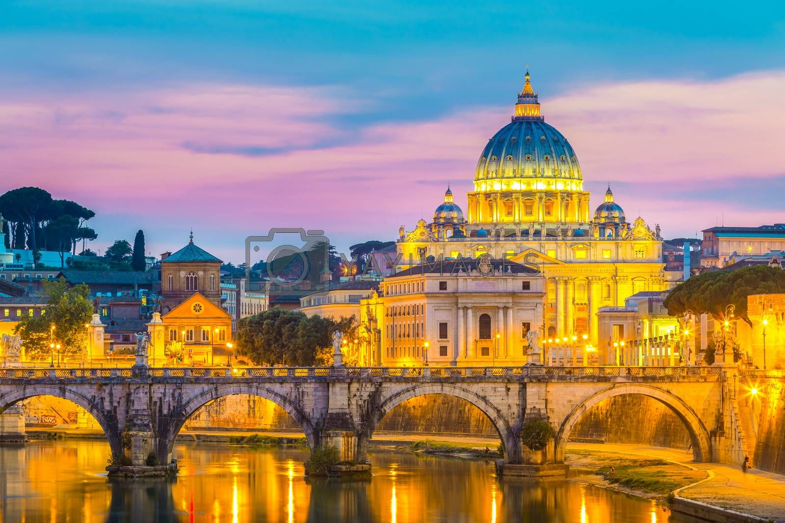 Royalty free image of View at St. Peter's cathedral in Rome, Italy by kasto