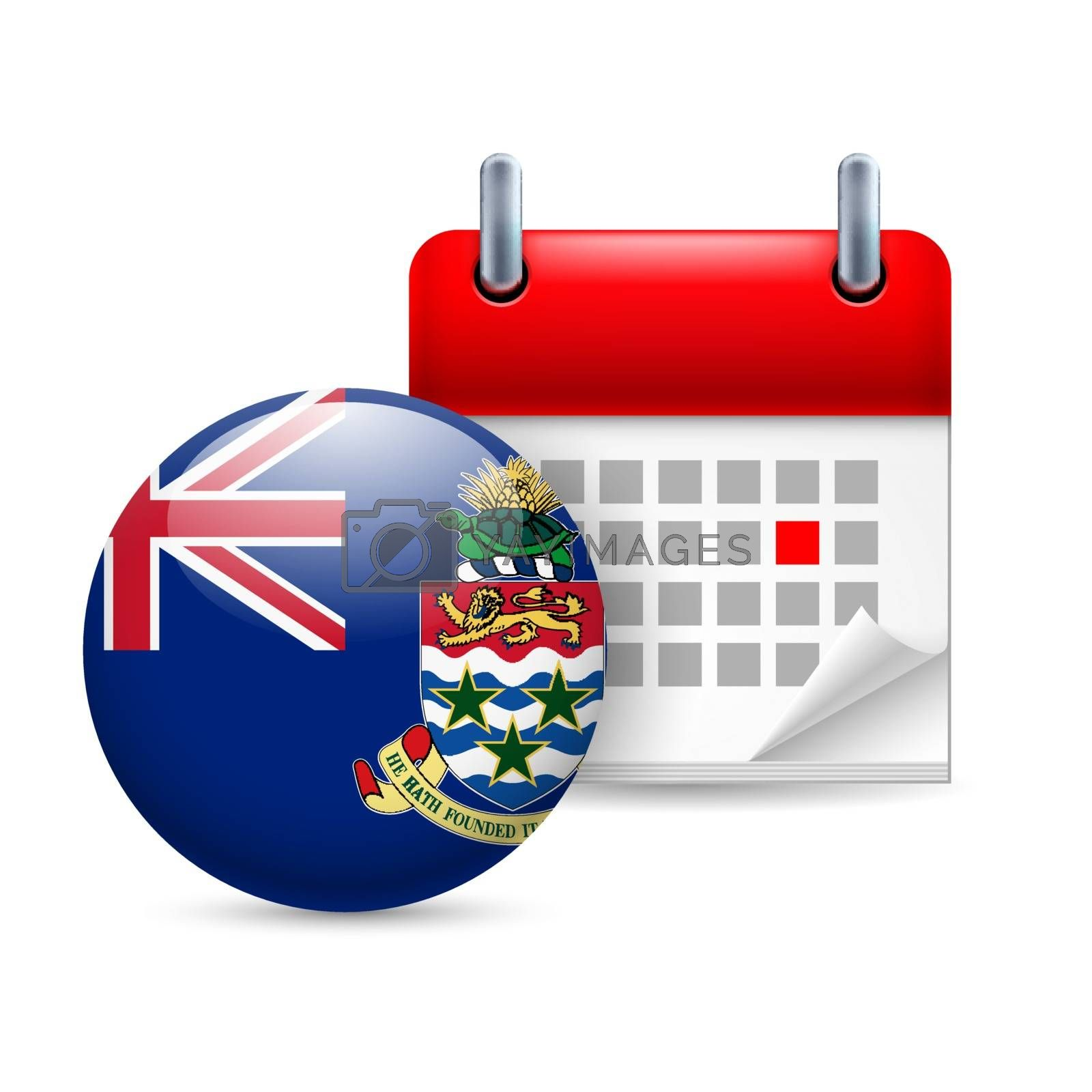 Royalty free image of Icon of National Day on Cayman Islands by dvarg