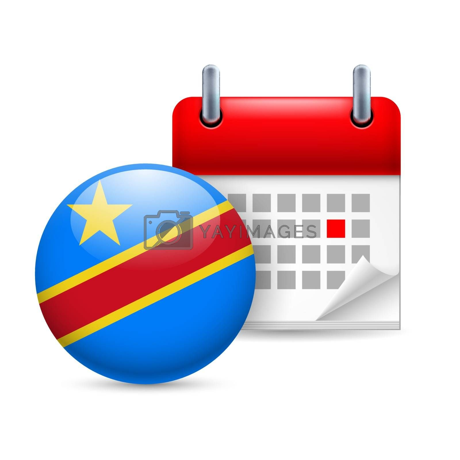 Royalty free image of Icon of National Day in Democratic Republic of the Congo by dvarg