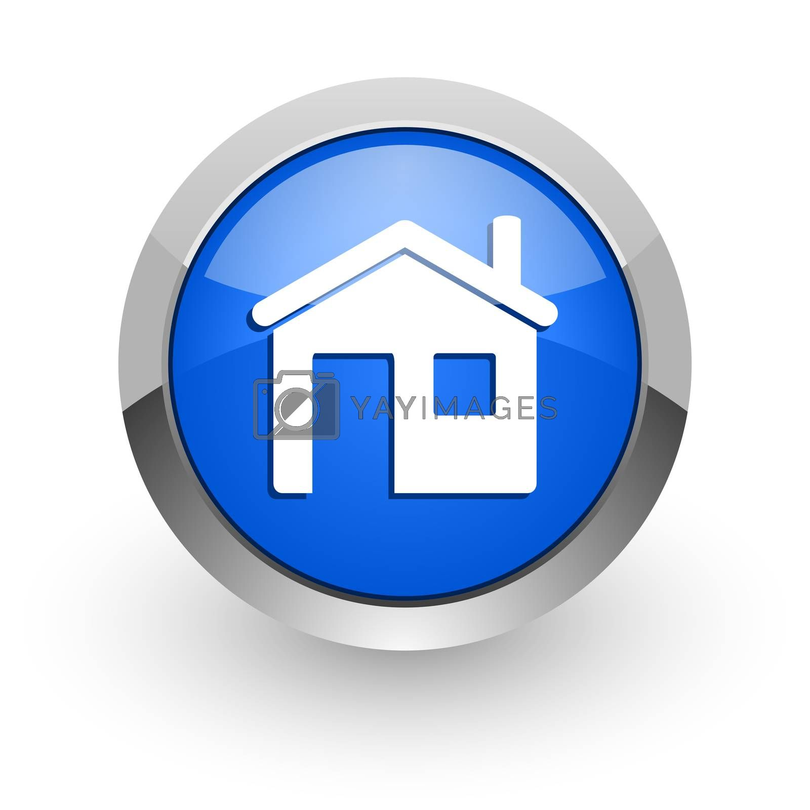 Royalty free image of house blue glossy web icon by alexwhite