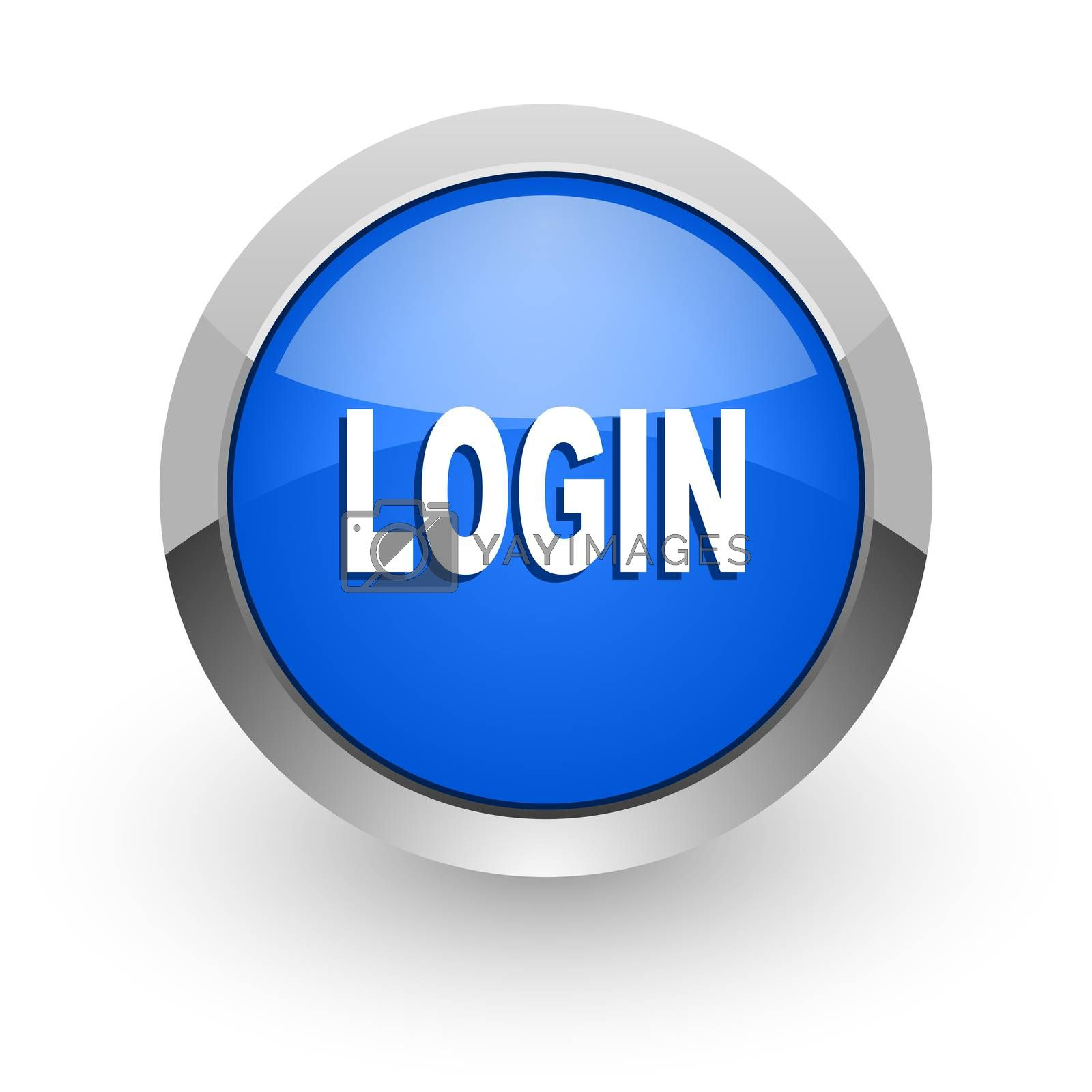 Royalty free image of login blue glossy web icon by alexwhite