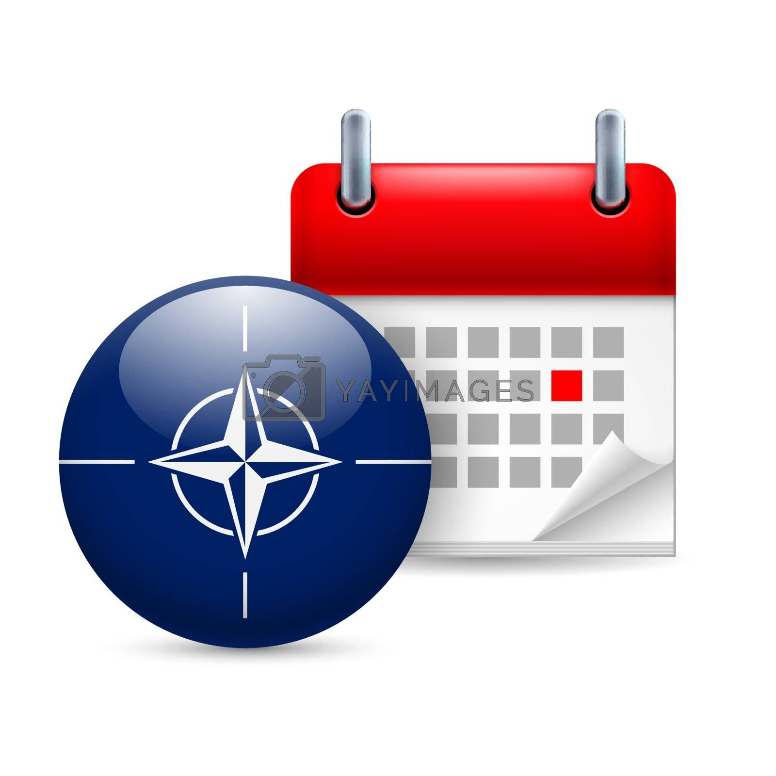 Royalty free image of Icon of NATO flag and calendar by dvarg