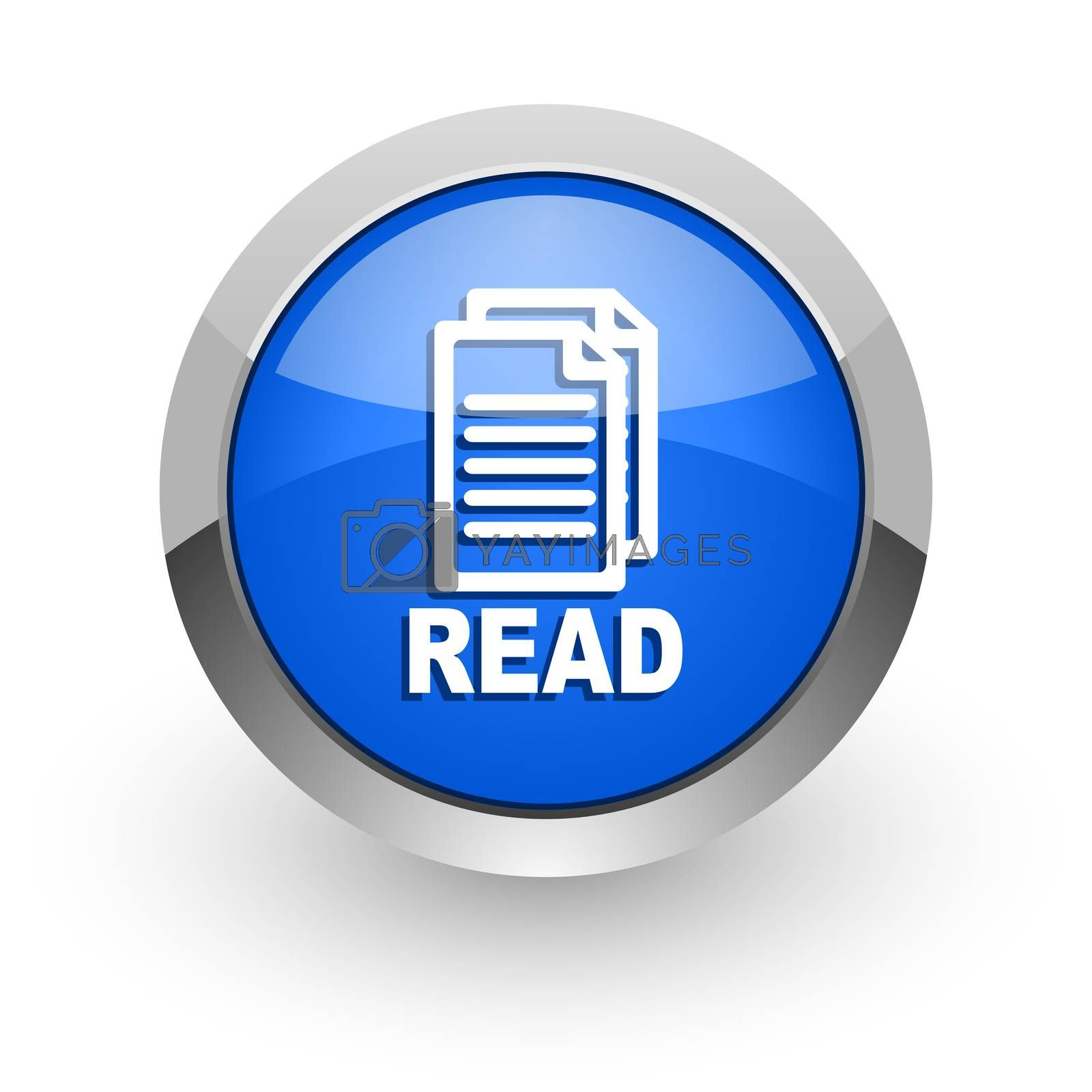 Royalty free image of read blue glossy web icon by alexwhite