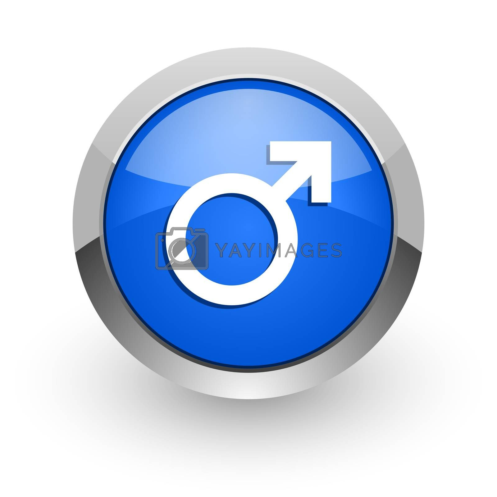 Royalty free image of male blue glossy web icon by alexwhite