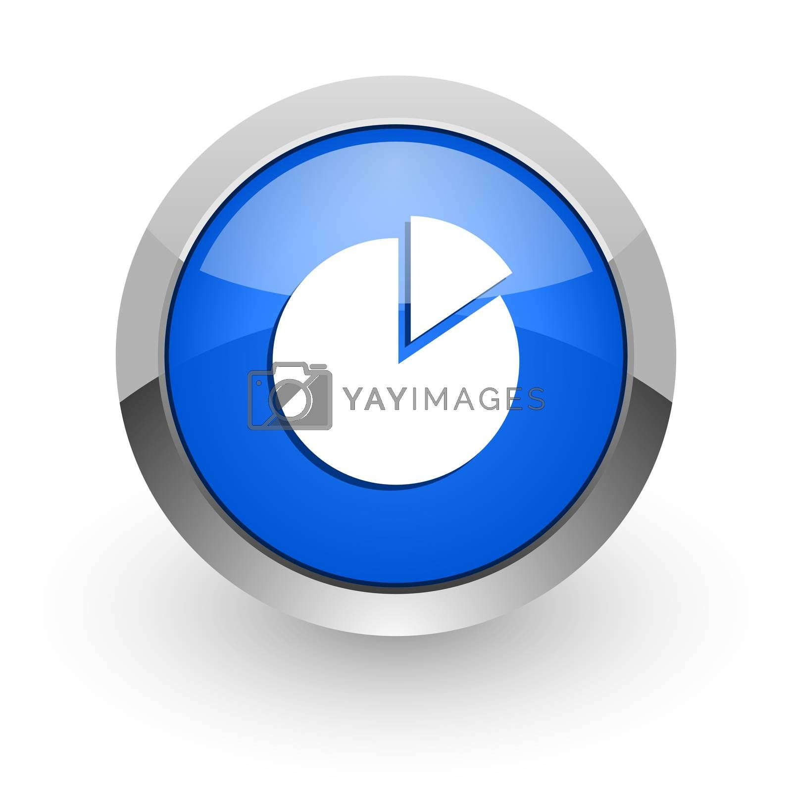 Royalty free image of chart blue glossy web icon by alexwhite
