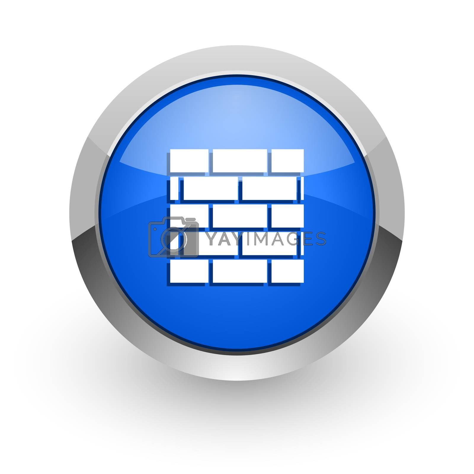 Royalty free image of firewall blue glossy web icon by alexwhite