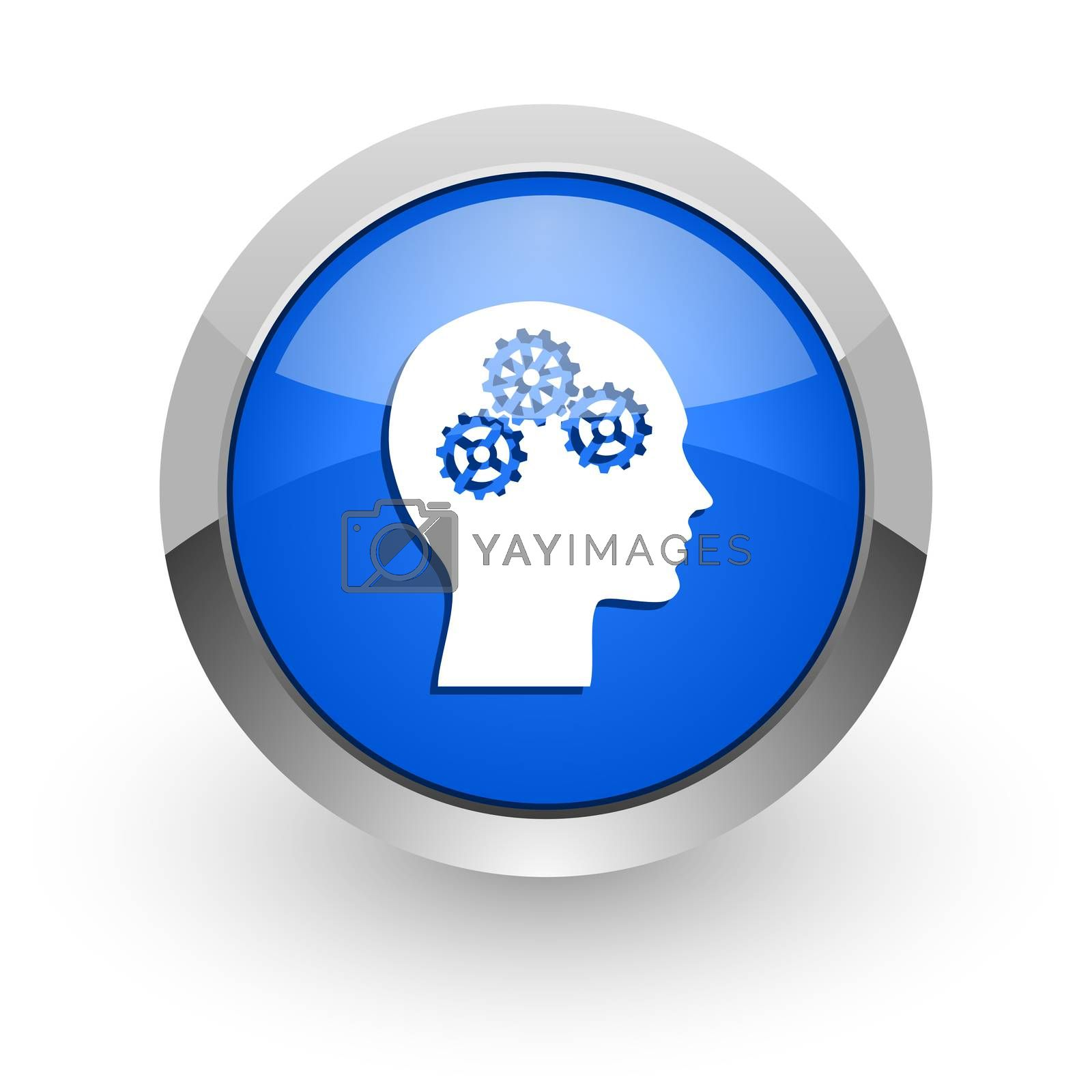 Royalty free image of head blue glossy web icon by alexwhite