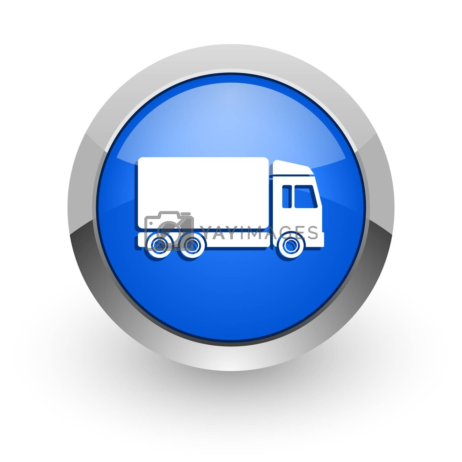 Royalty free image of delivery blue glossy web icon by alexwhite