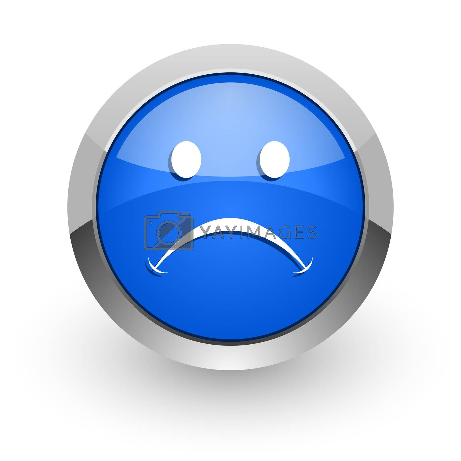 Royalty free image of cry blue glossy web icon by alexwhite