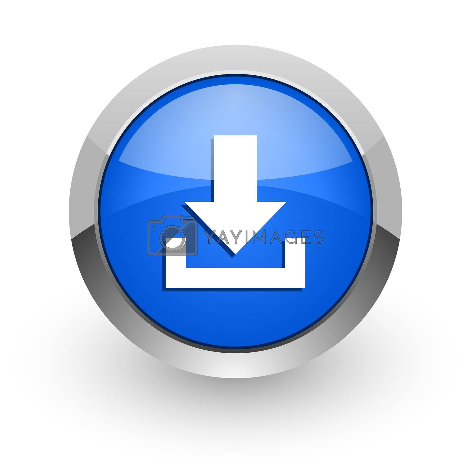 Royalty free image of download blue glossy web icon by alexwhite