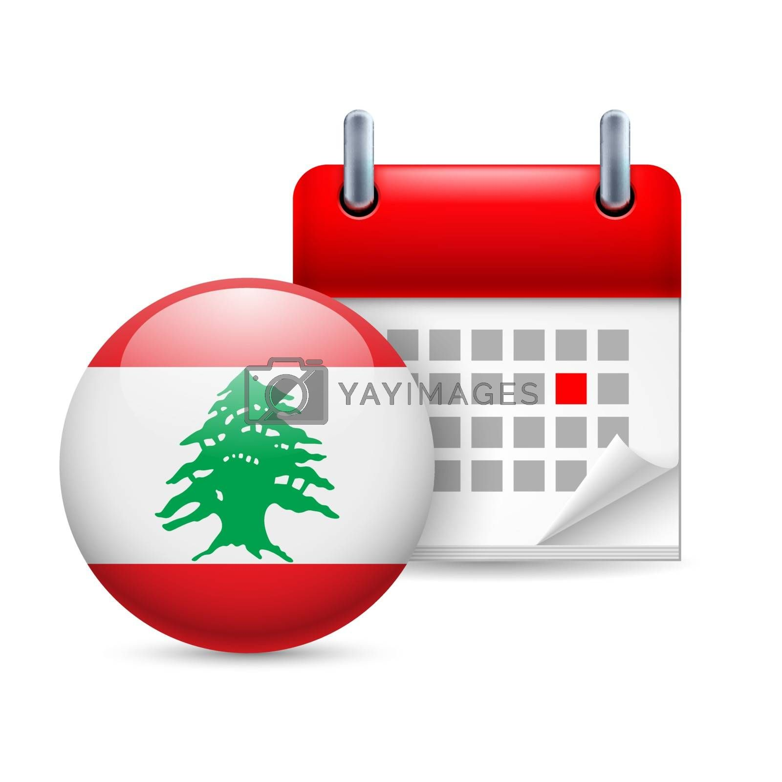 Royalty free image of Icon of National Day in Lebanon by dvarg