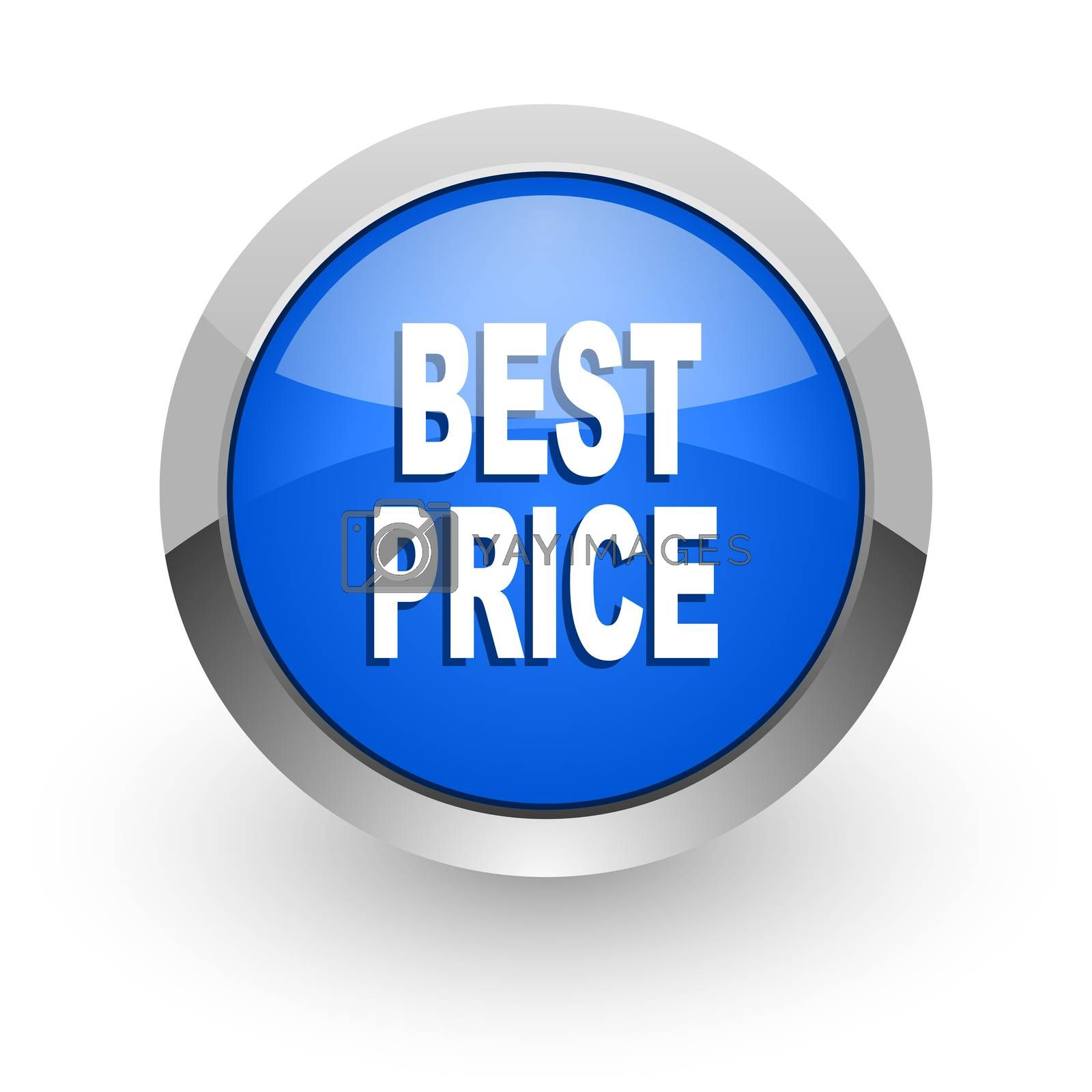 Royalty free image of best price blue glossy web icon by alexwhite