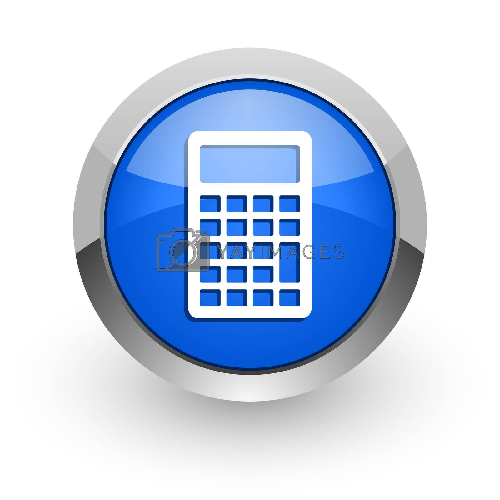 Royalty free image of calculator blue glossy web icon by alexwhite