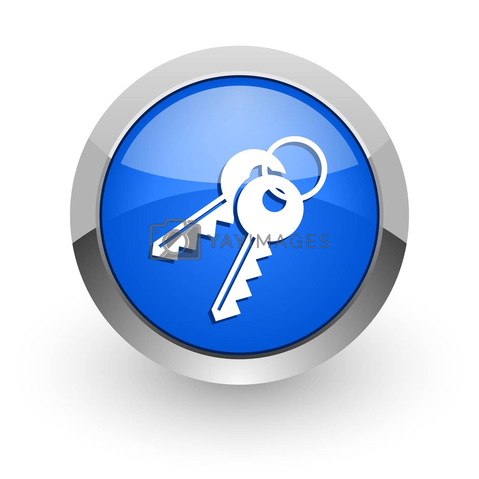 Royalty free image of keys blue glossy web icon by alexwhite