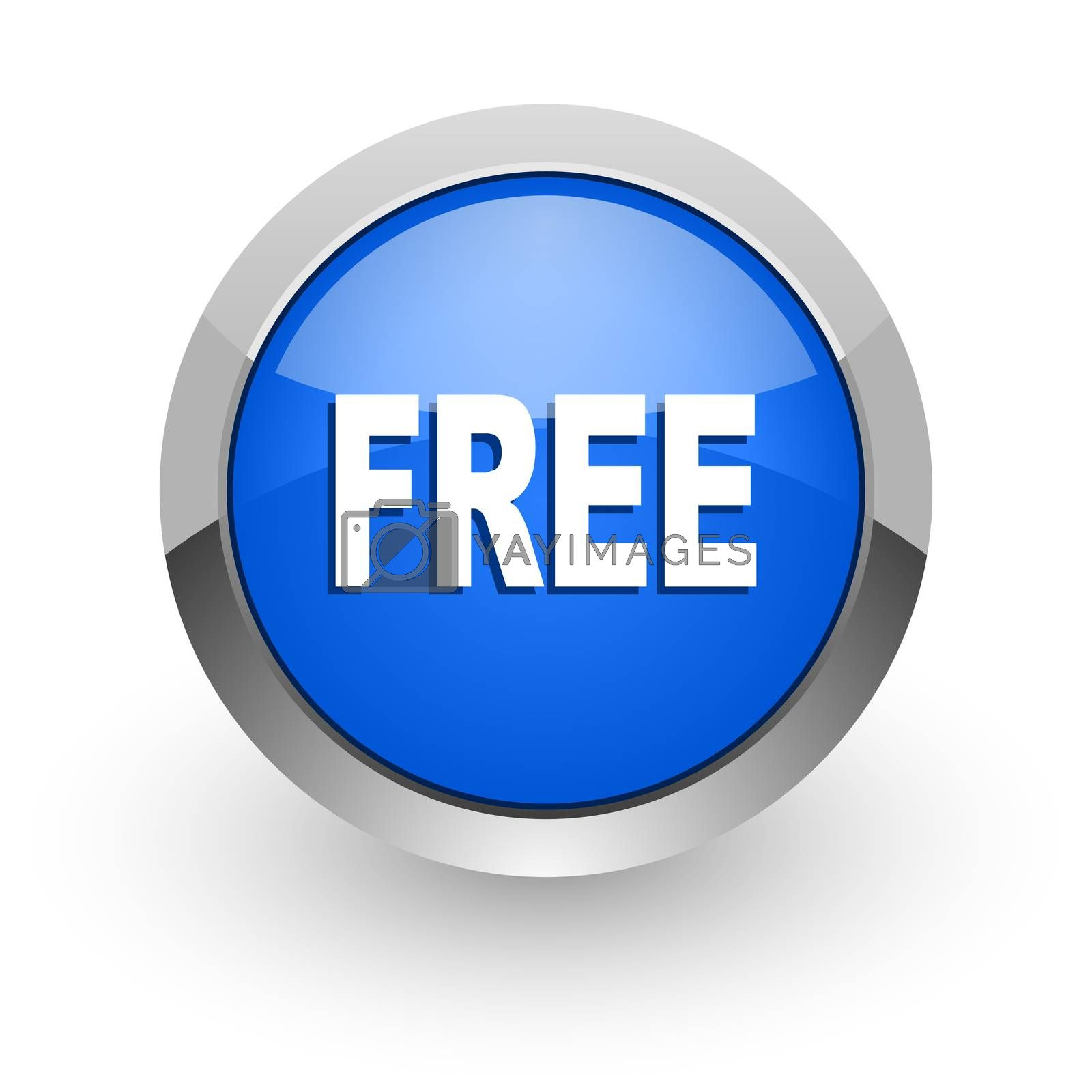 Royalty free image of free blue glossy web icon by alexwhite