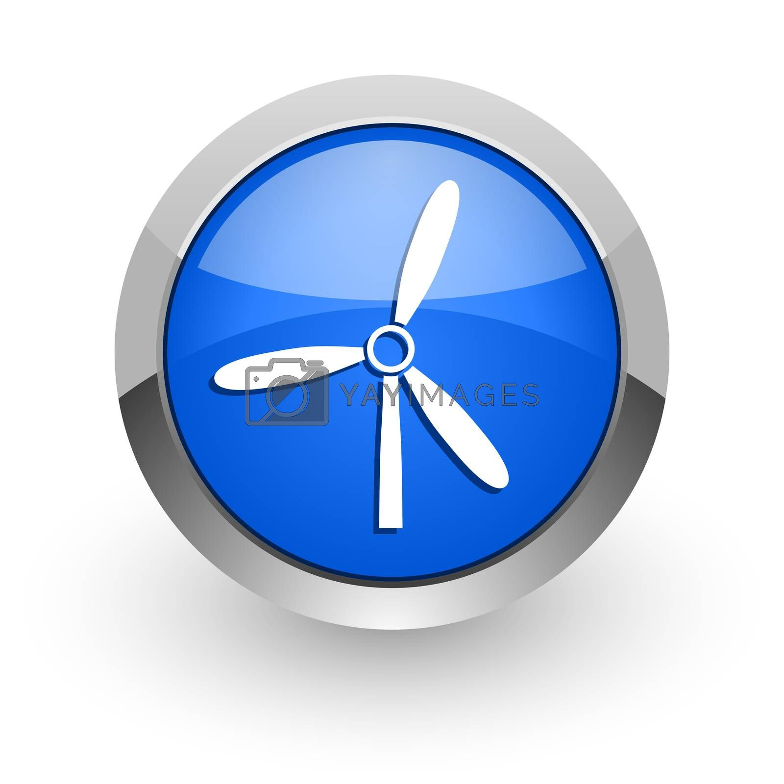 Royalty free image of windmill blue glossy web icon by alexwhite