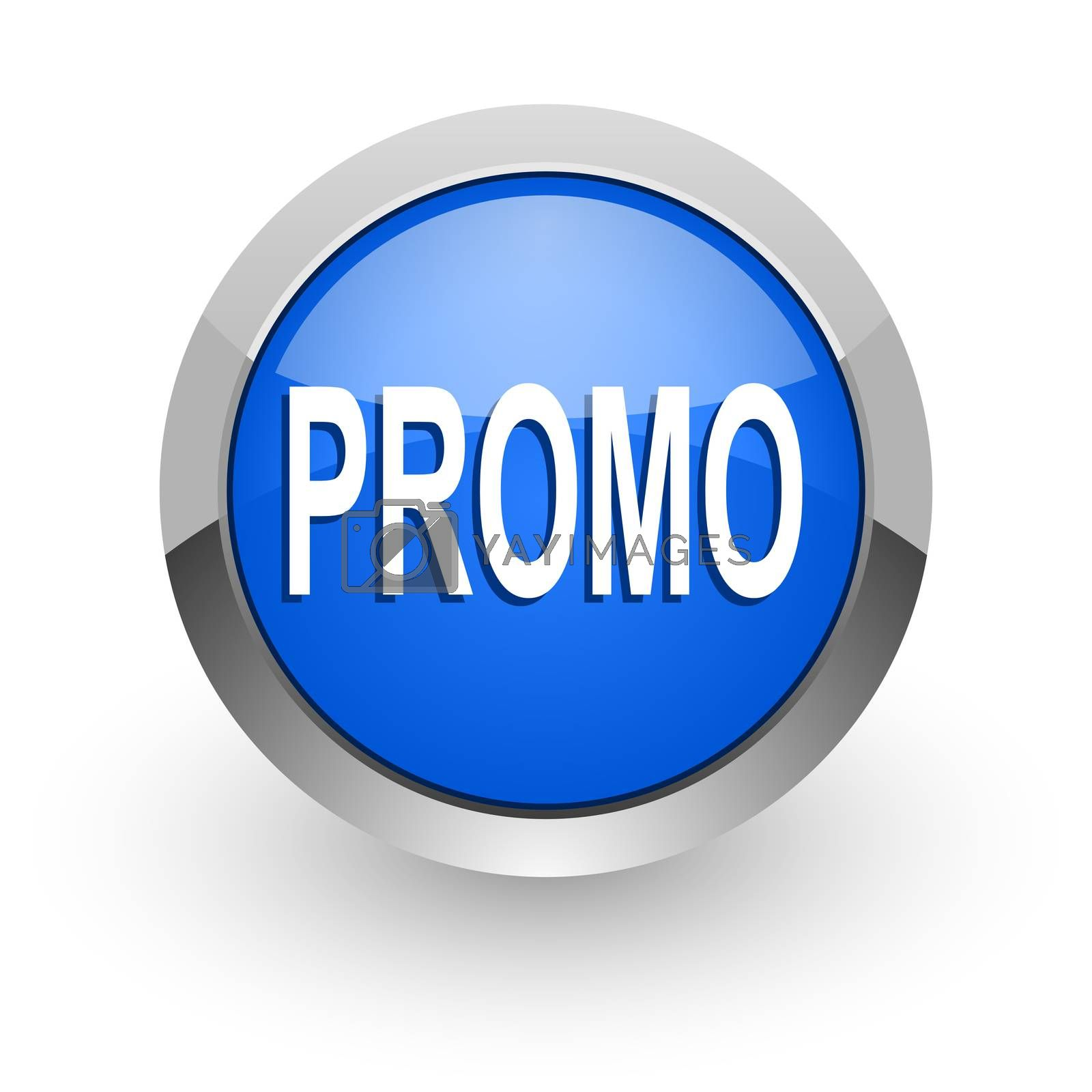 Royalty free image of promo blue glossy web icon by alexwhite