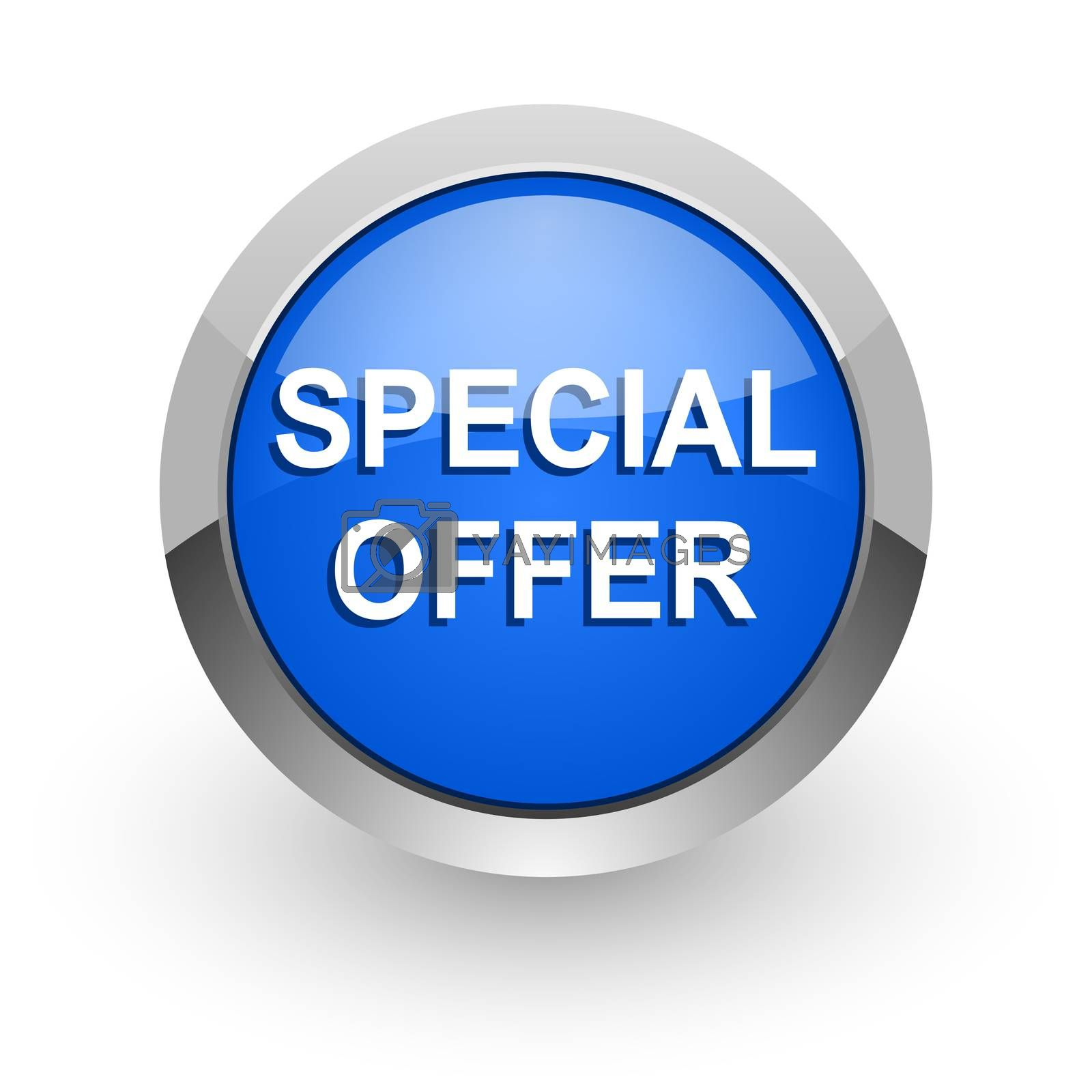 Royalty free image of special offer blue glossy web icon by alexwhite