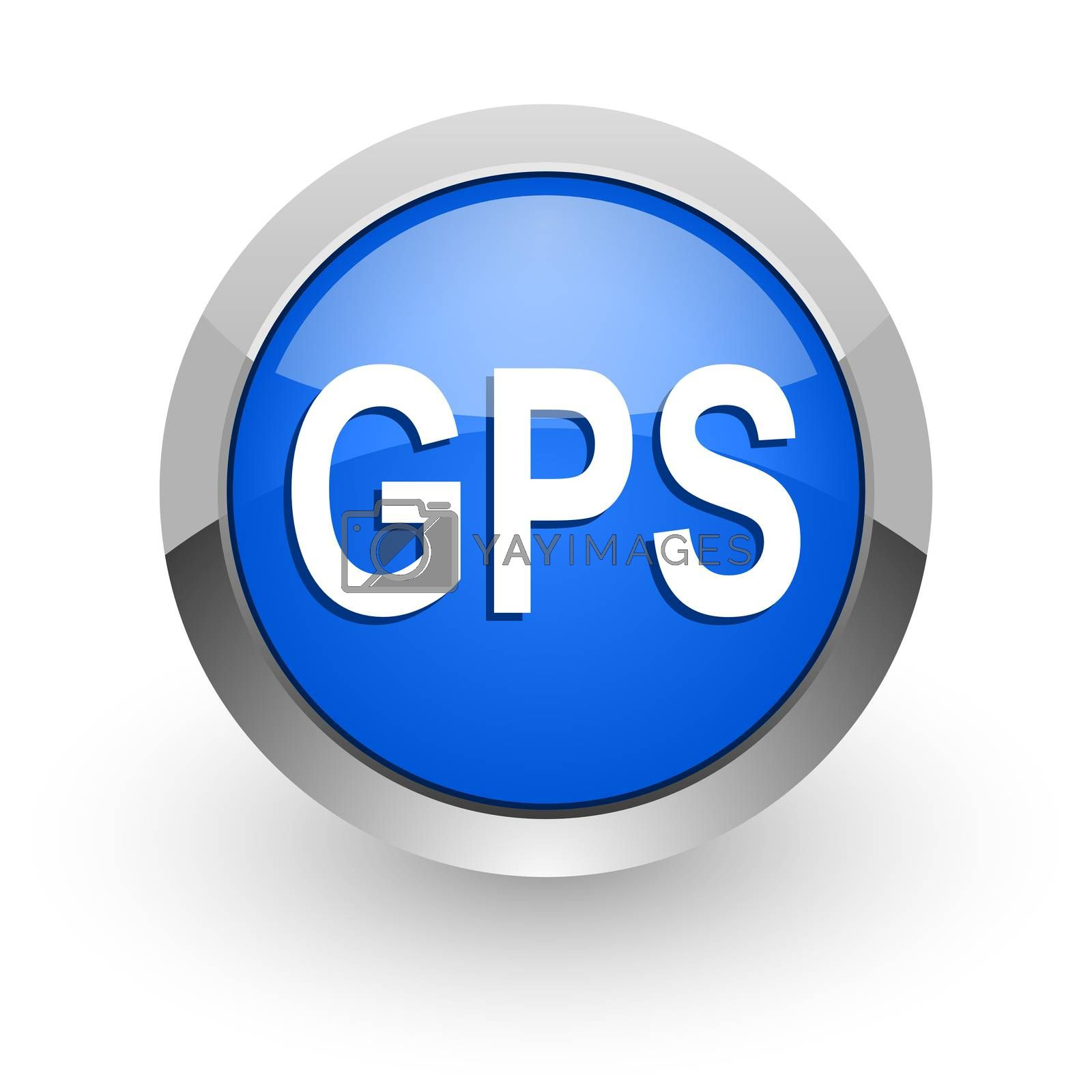 Royalty free image of gps blue glossy web icon by alexwhite