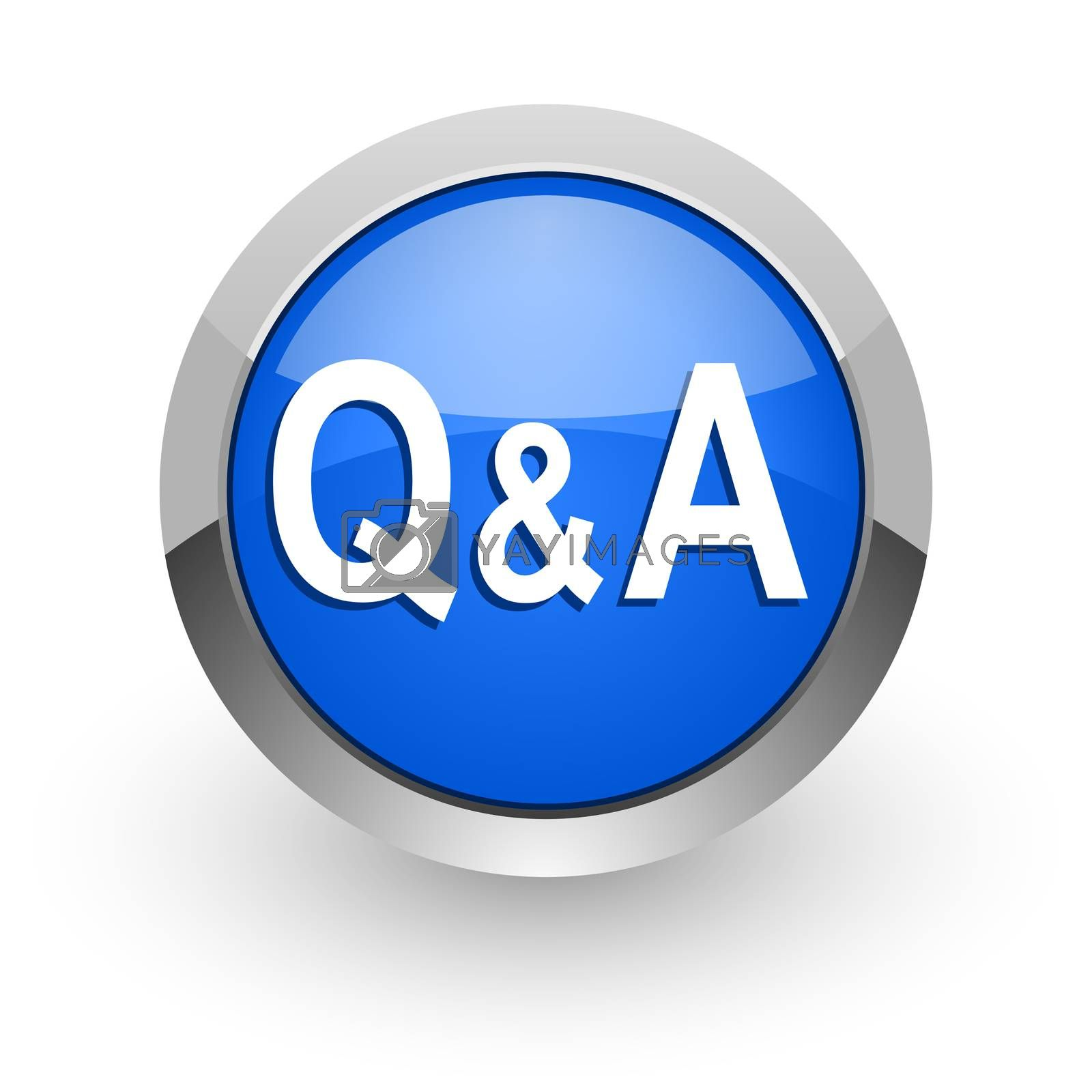 Royalty free image of question answer blue glossy web icon by alexwhite