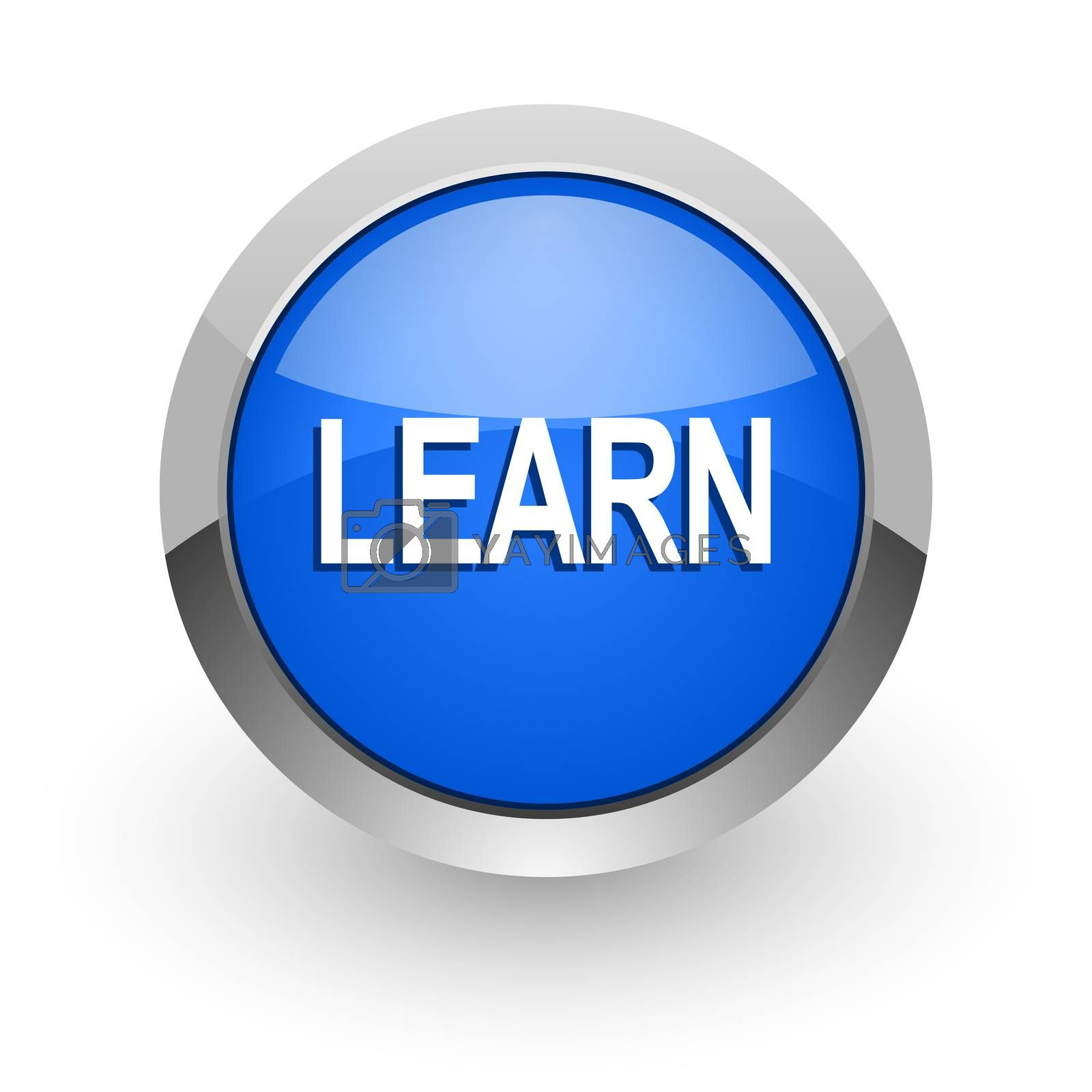 Royalty free image of learn blue glossy web icon by alexwhite