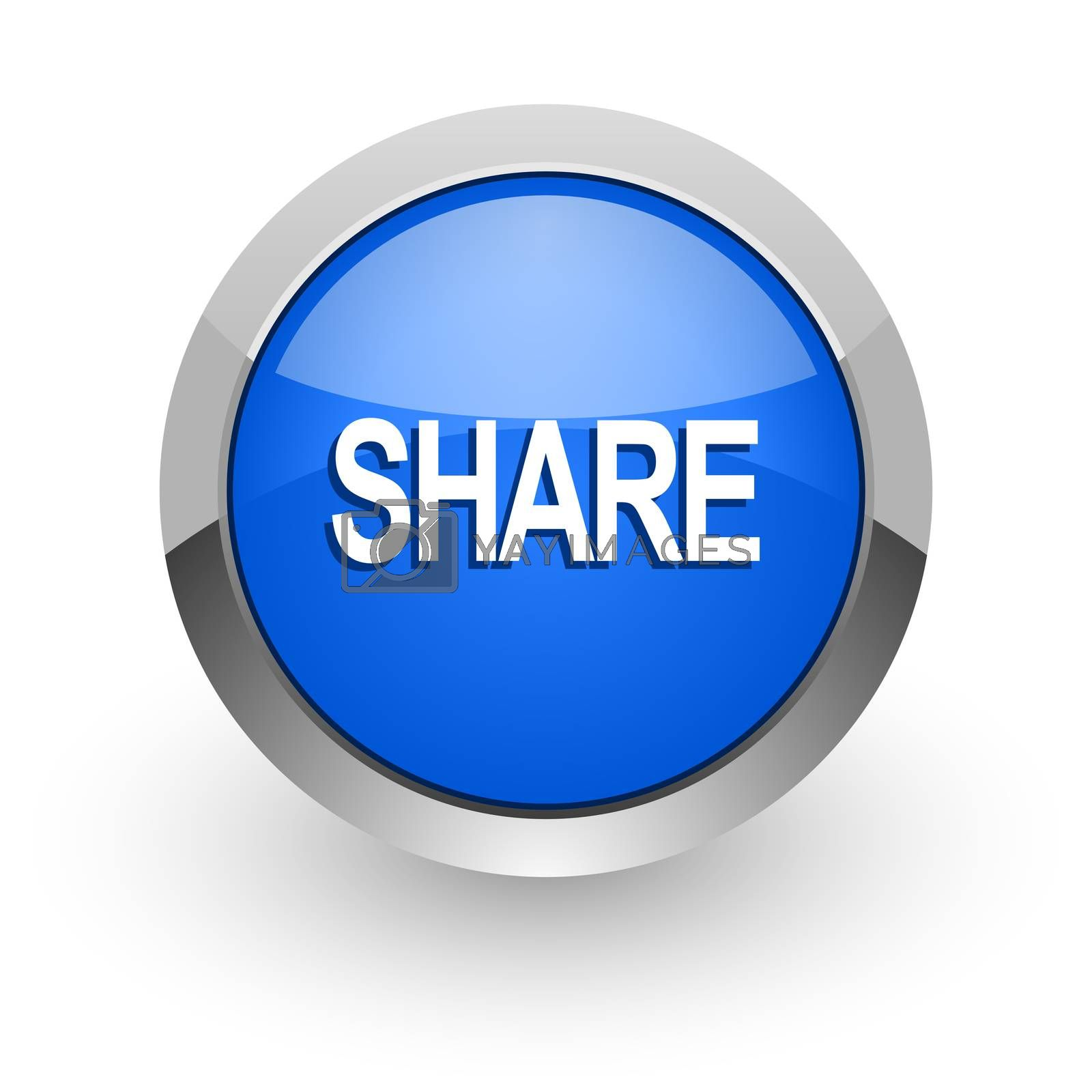 Royalty free image of share blue glossy web icon by alexwhite