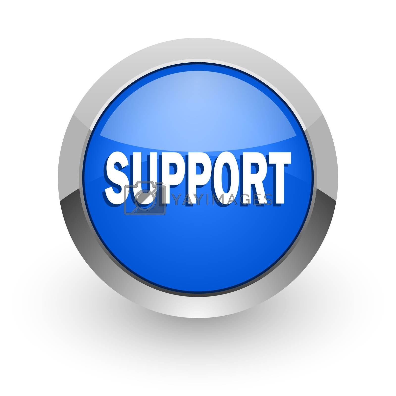 Royalty free image of support blue glossy web icon by alexwhite