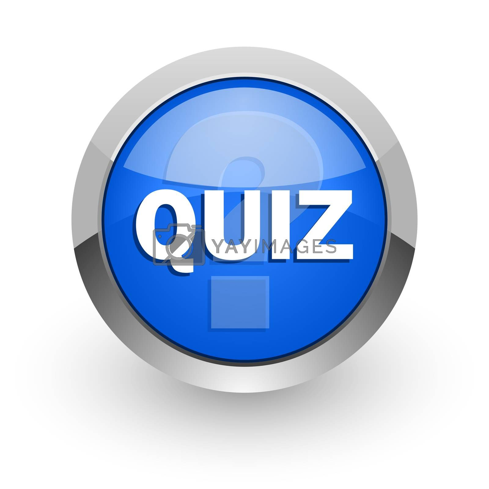 Royalty free image of quiz blue glossy web icon by alexwhite