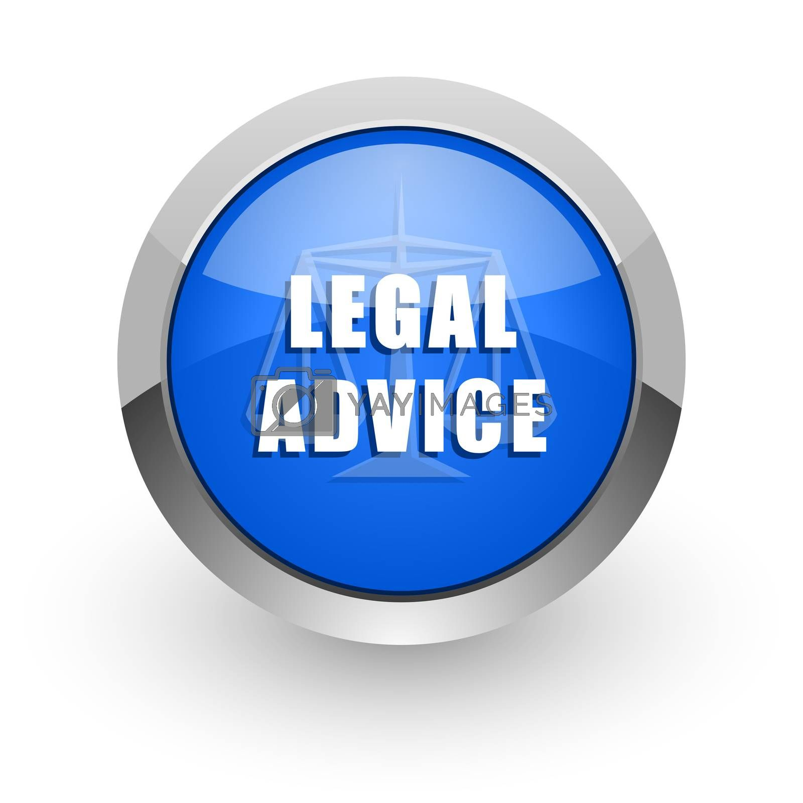 Royalty free image of legal advice blue glossy web icon by alexwhite