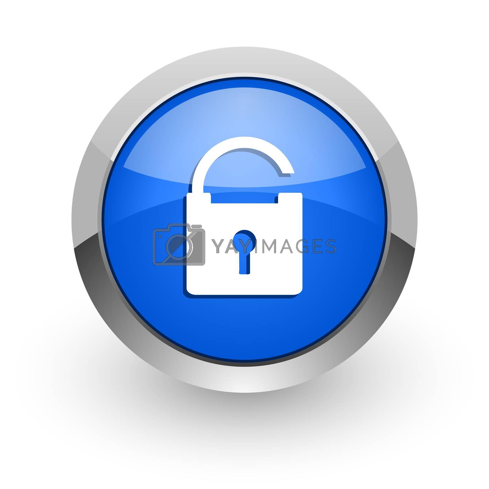 Royalty free image of padlock blue glossy web icon by alexwhite