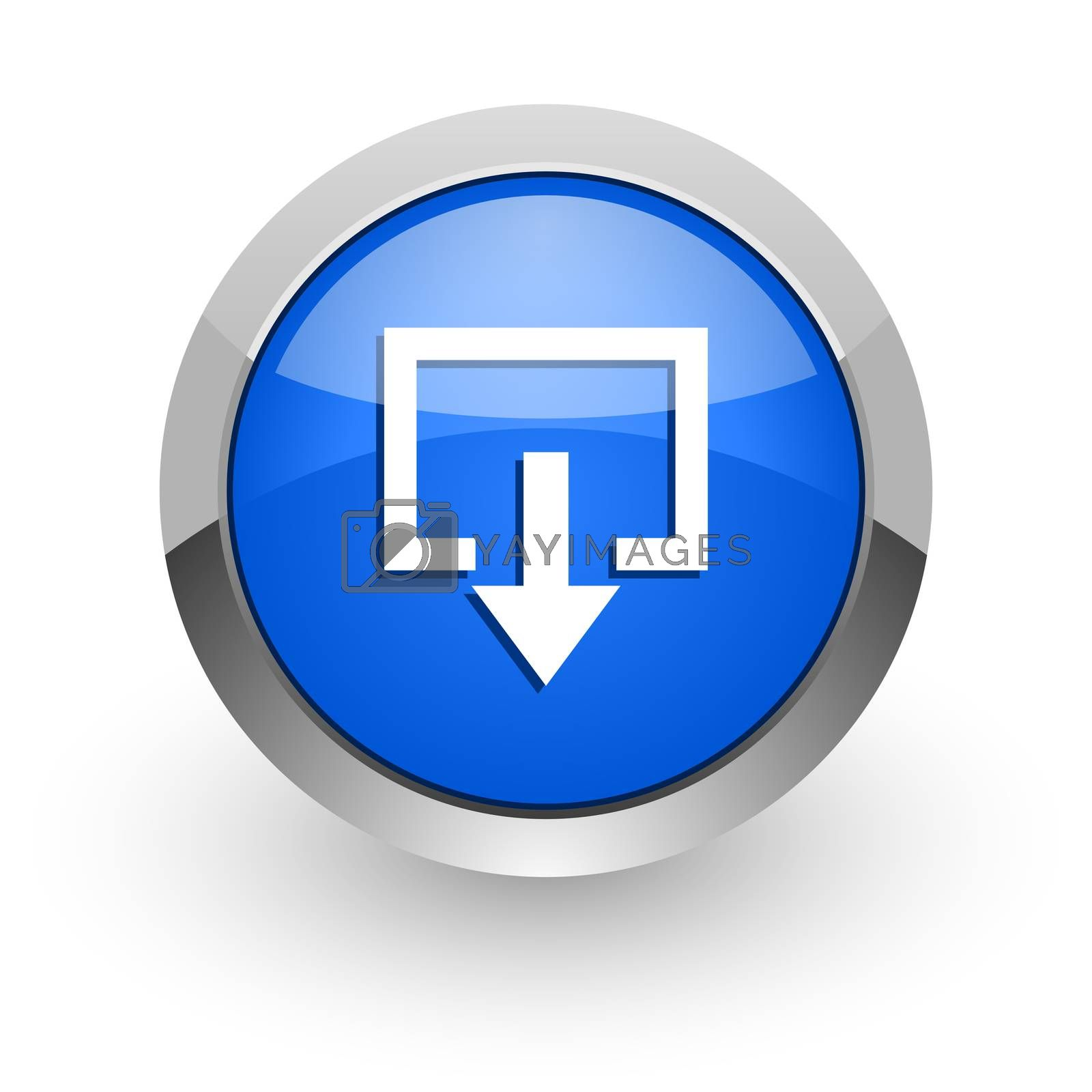 Royalty free image of exit blue glossy web icon by alexwhite