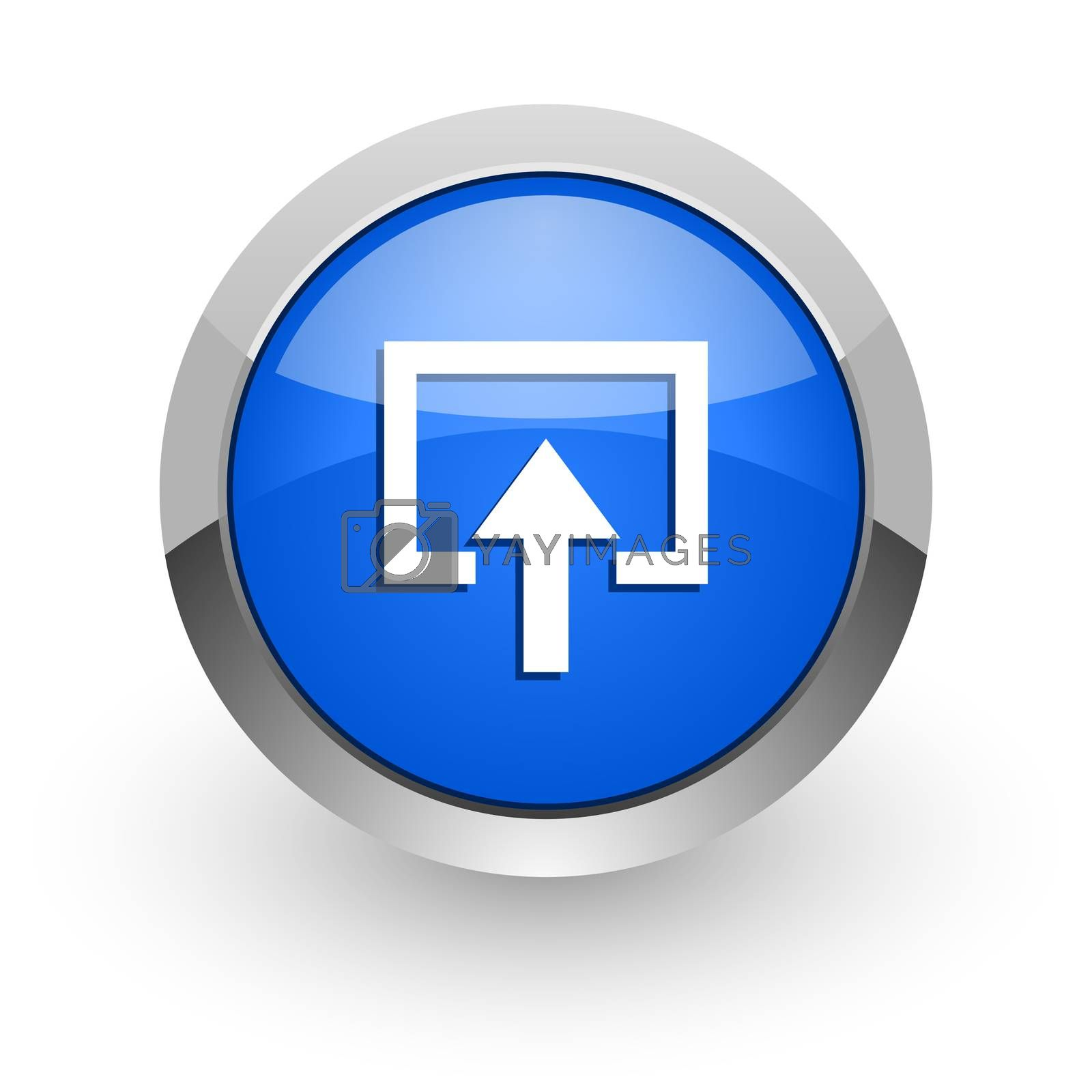 Royalty free image of enter blue glossy web icon by alexwhite