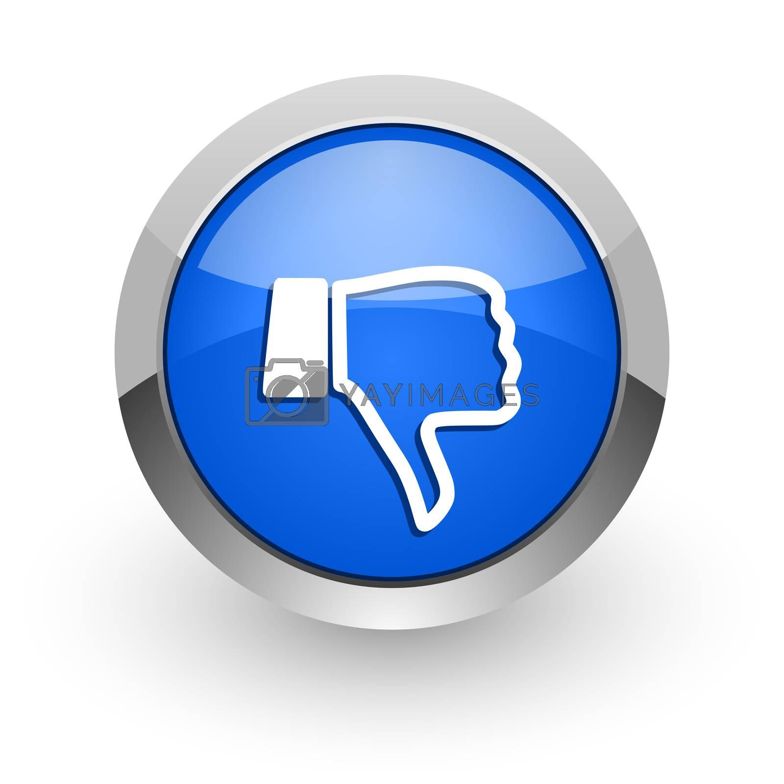 Royalty free image of dislike blue glossy web icon by alexwhite