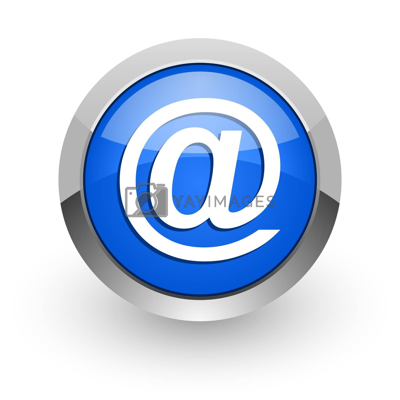 Royalty free image of email blue glossy web icon by alexwhite