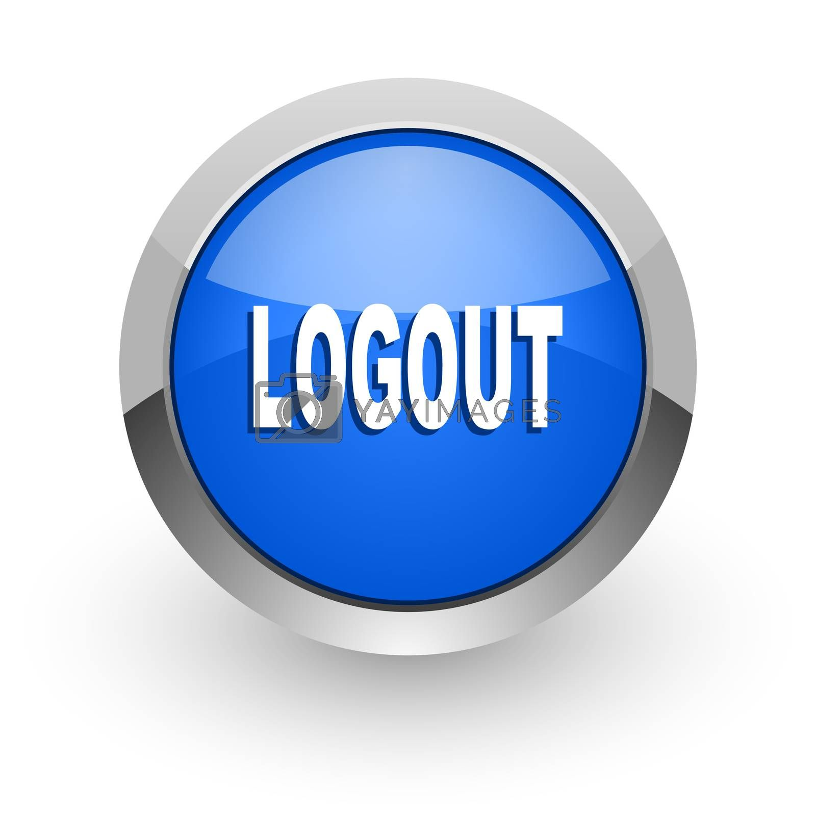 Royalty free image of logout blue glossy web icon by alexwhite