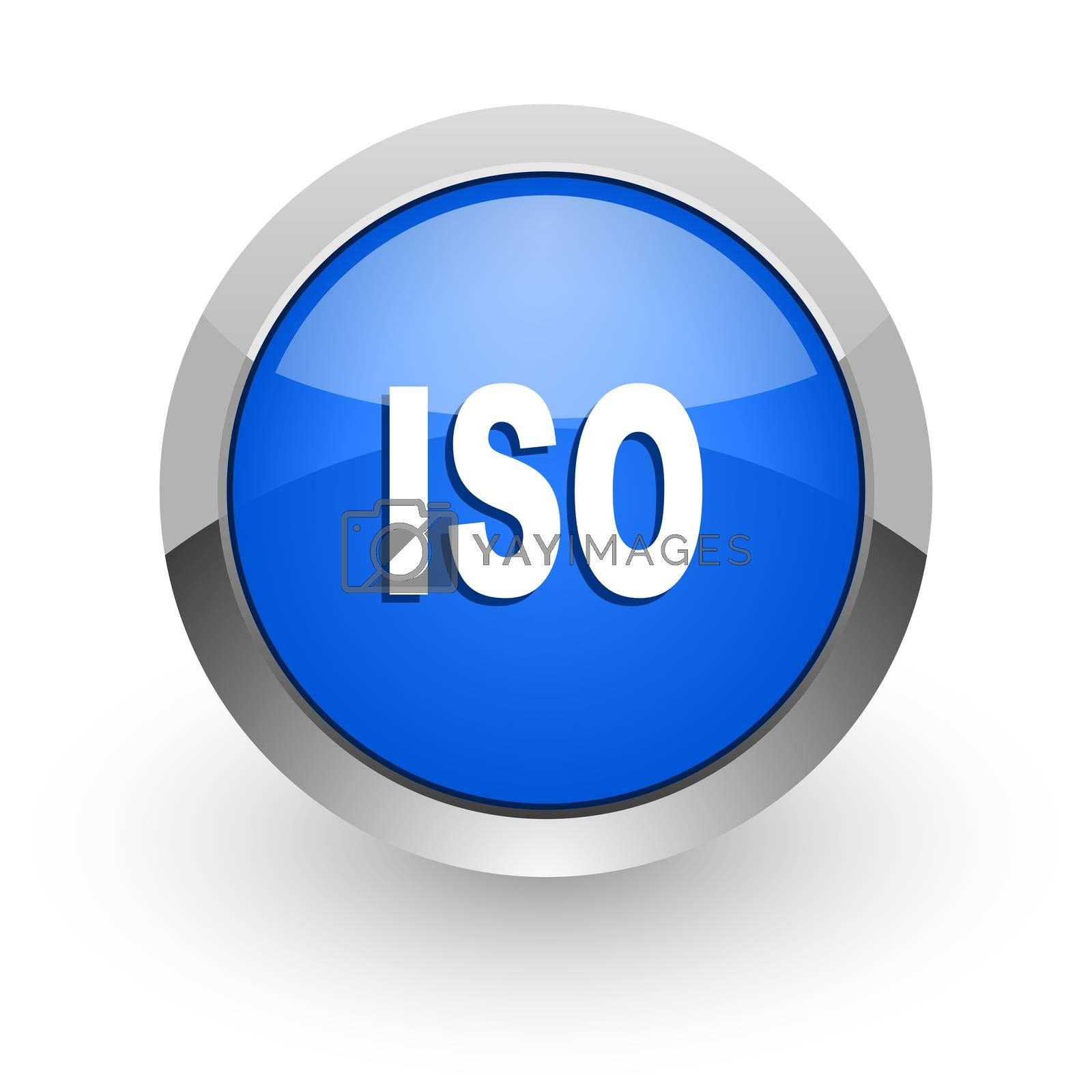 Royalty free image of iso blue glossy web icon by alexwhite