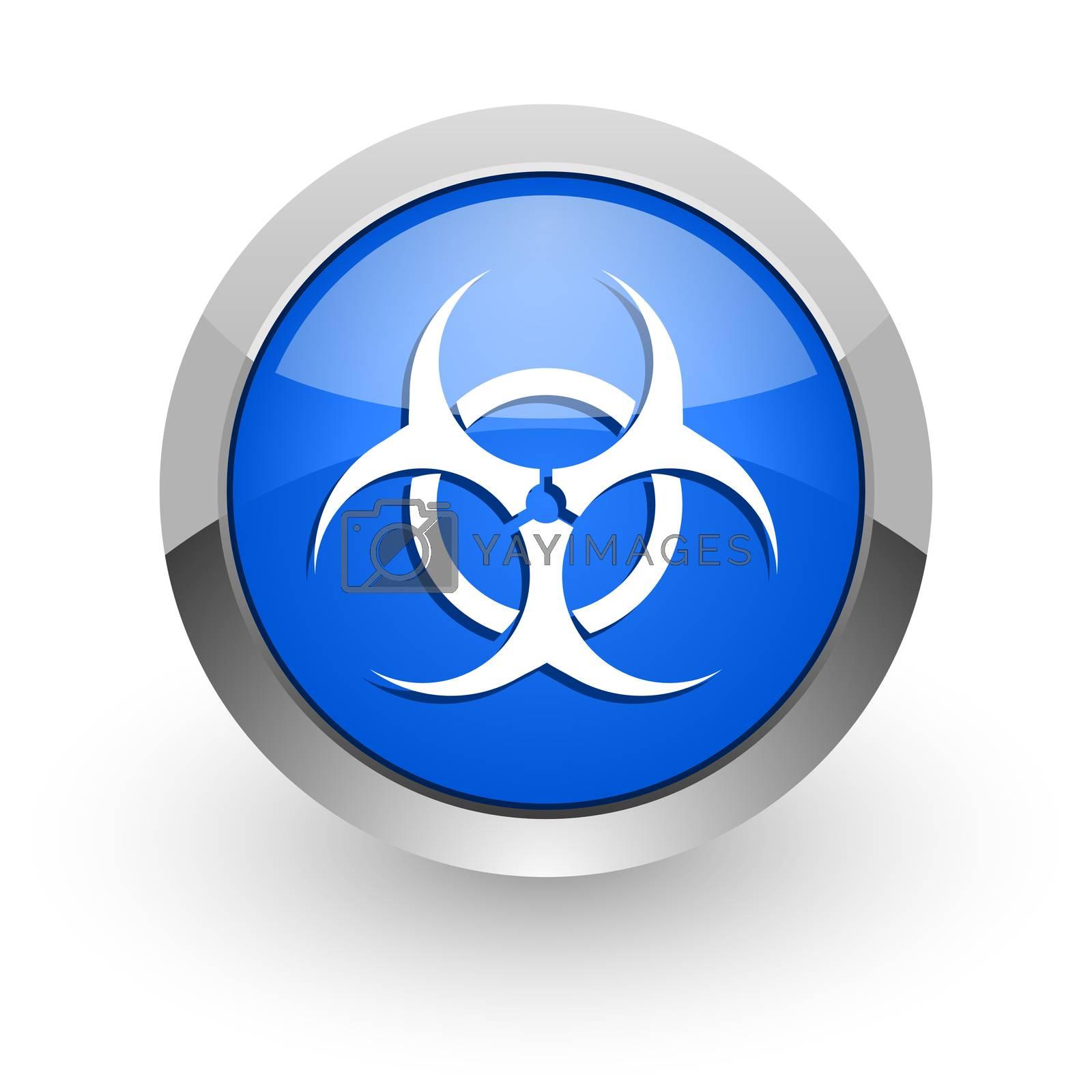 Royalty free image of biohazard blue glossy web icon by alexwhite
