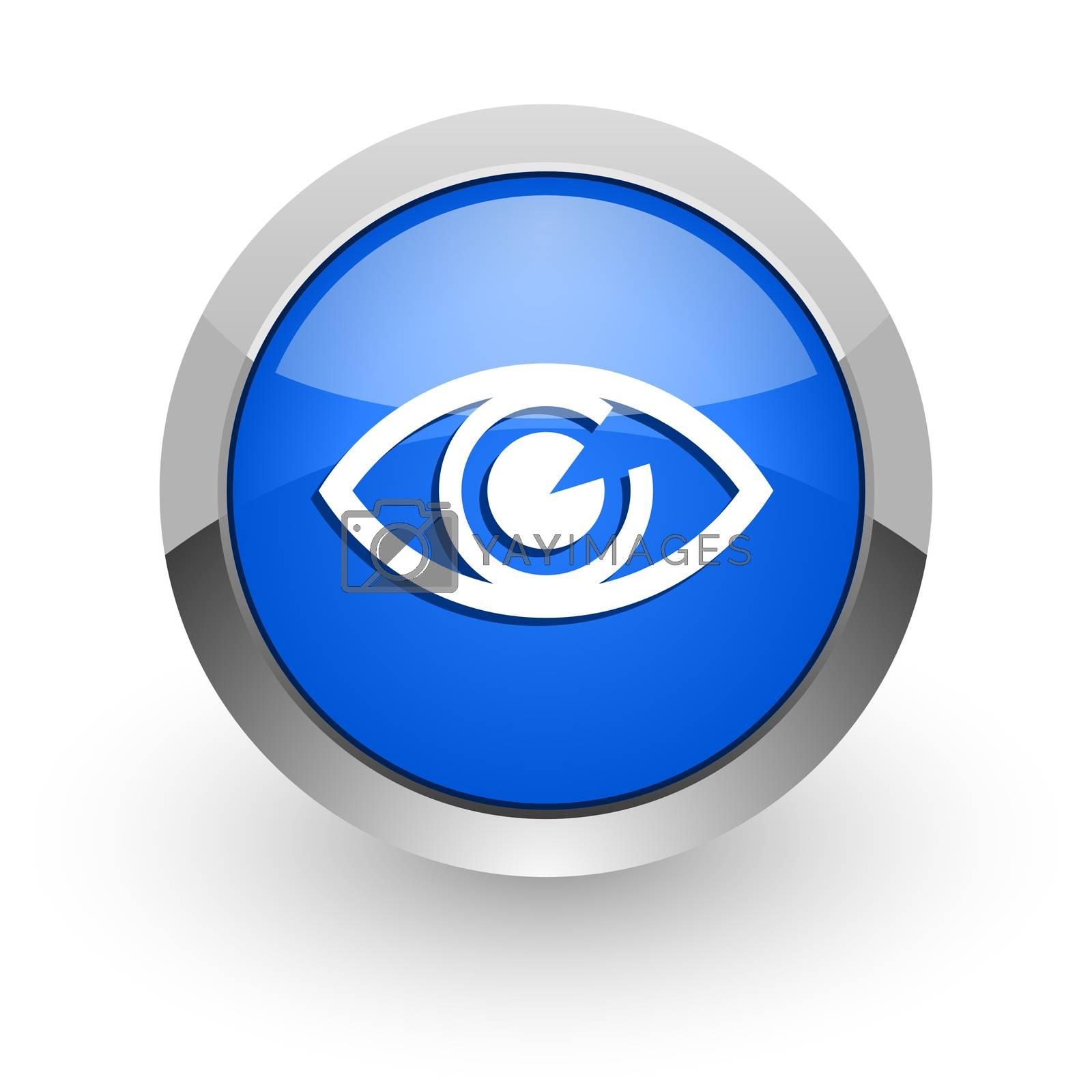 Royalty free image of eye blue glossy web icon by alexwhite