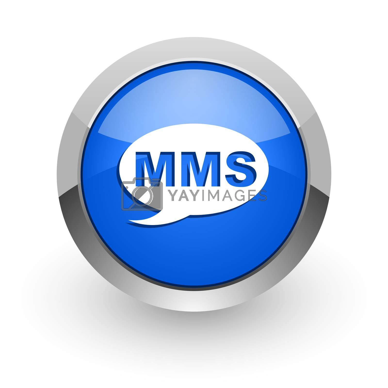 Royalty free image of mms blue glossy web icon by alexwhite