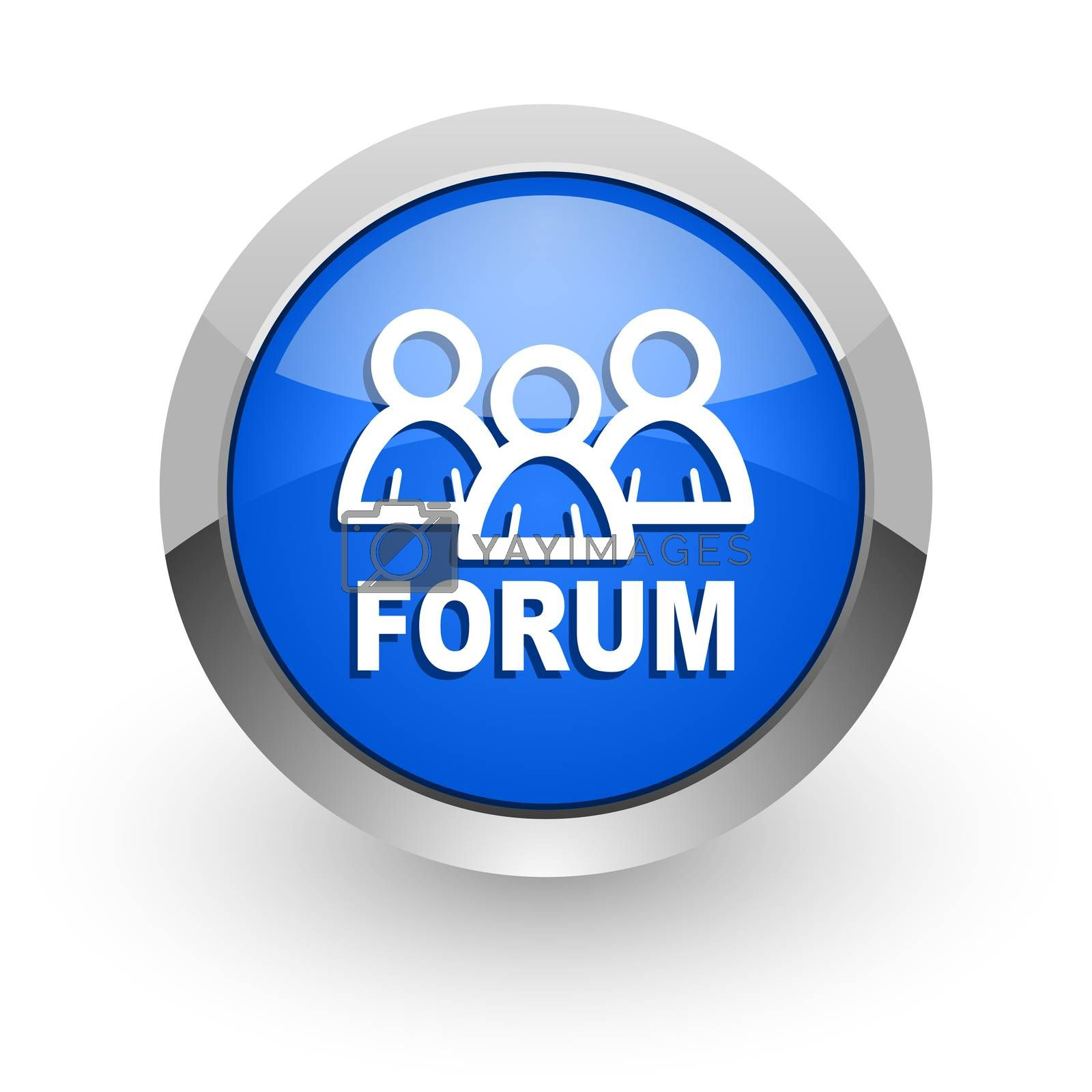 Royalty free image of forum blue glossy web icon by alexwhite