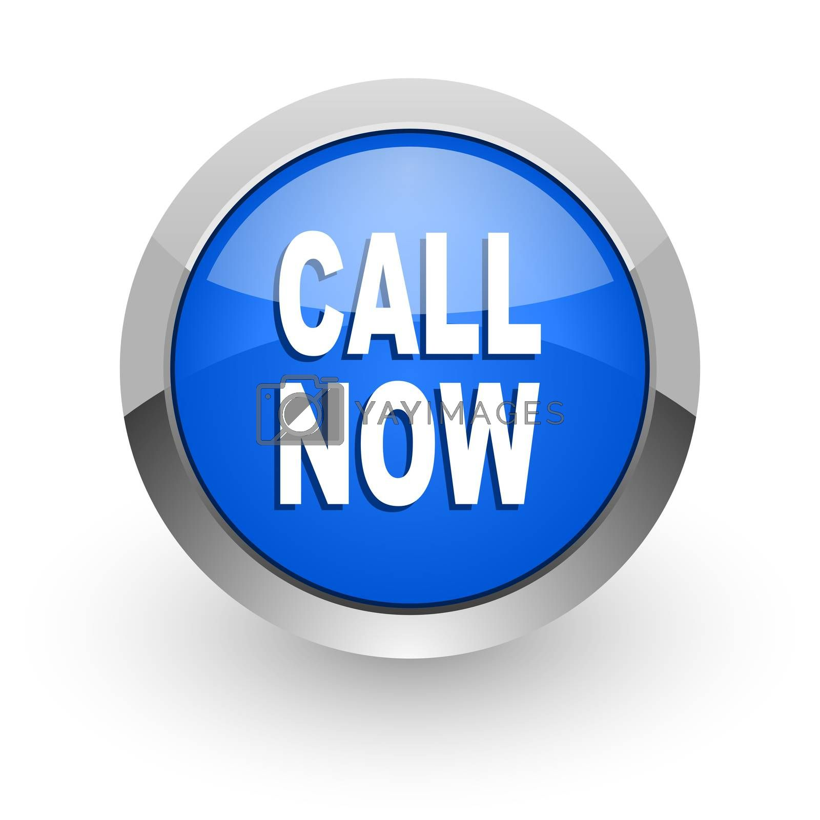 Royalty free image of call now blue glossy web icon by alexwhite